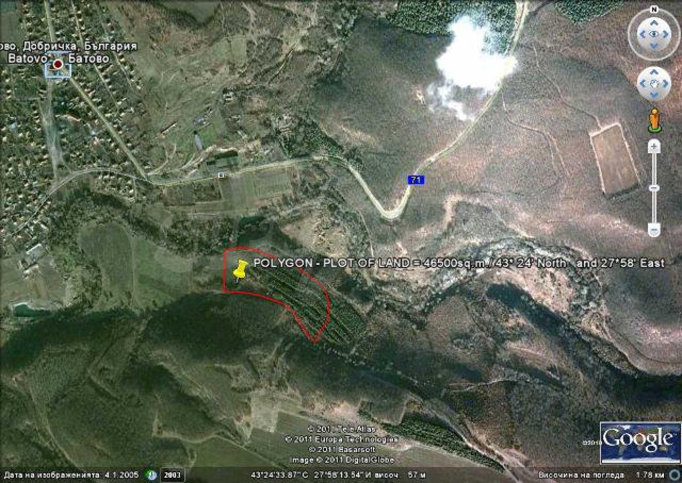 Продается участок площадью 46 500 кв.м. в 12 км от Албены 10