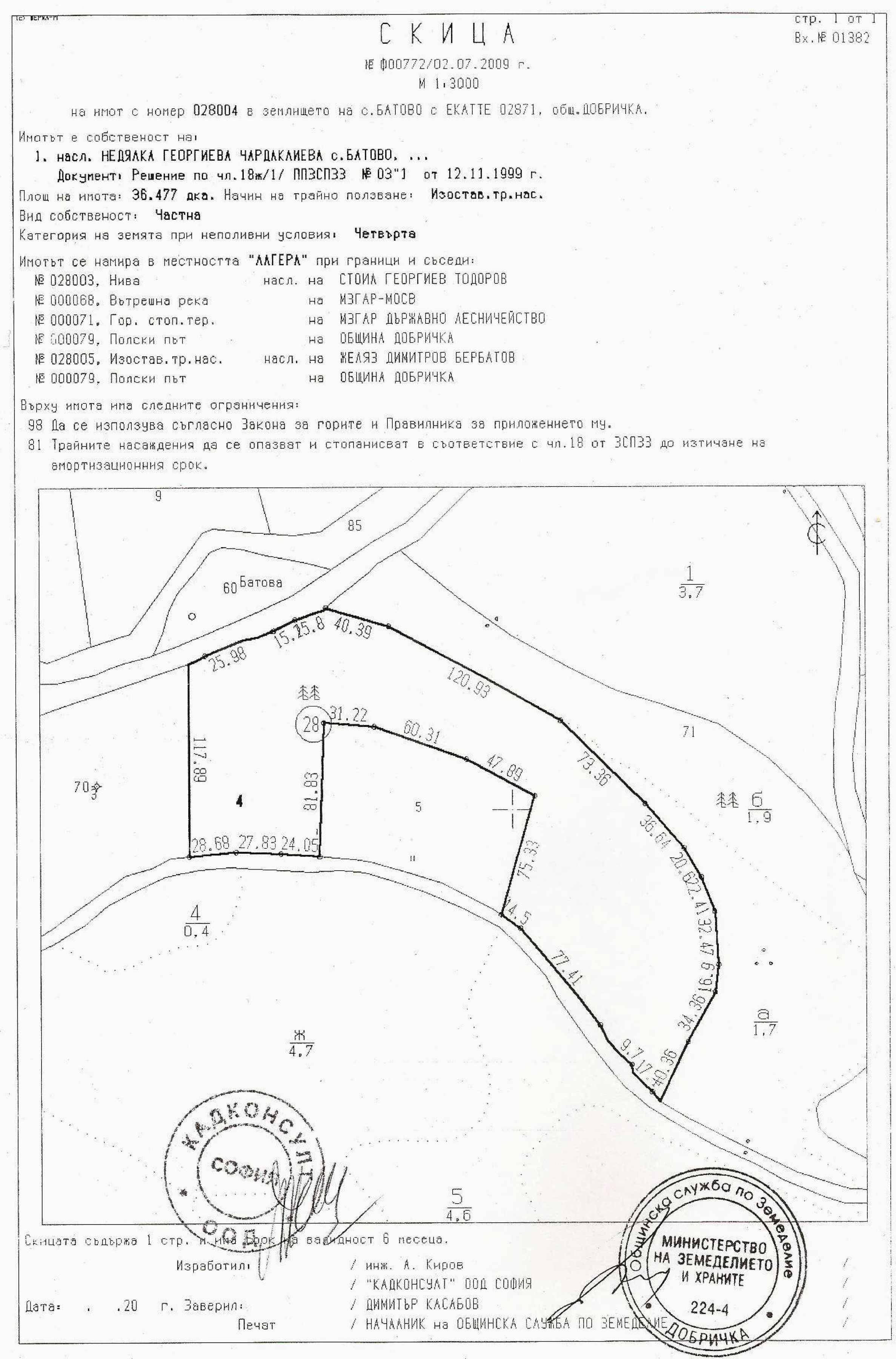 Продается участок площадью 46 500 кв.м. в 12 км от Албены 11