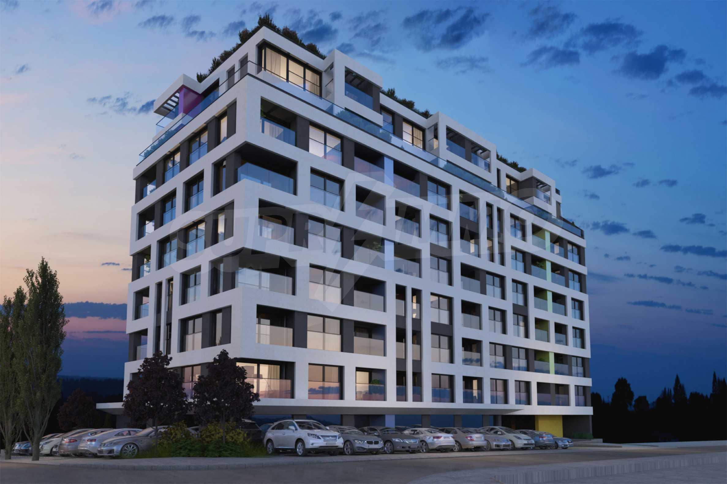 Neues Wohngebäude mit Büros und Geschäften in der Nähe von NBU zu PROMO-Preisen 1