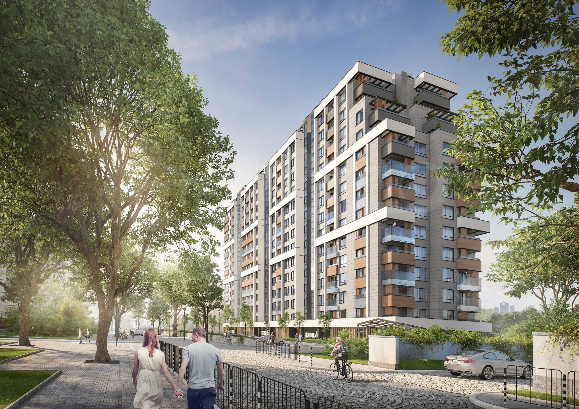 New project next to a park, Mall Sofia and metro station 3