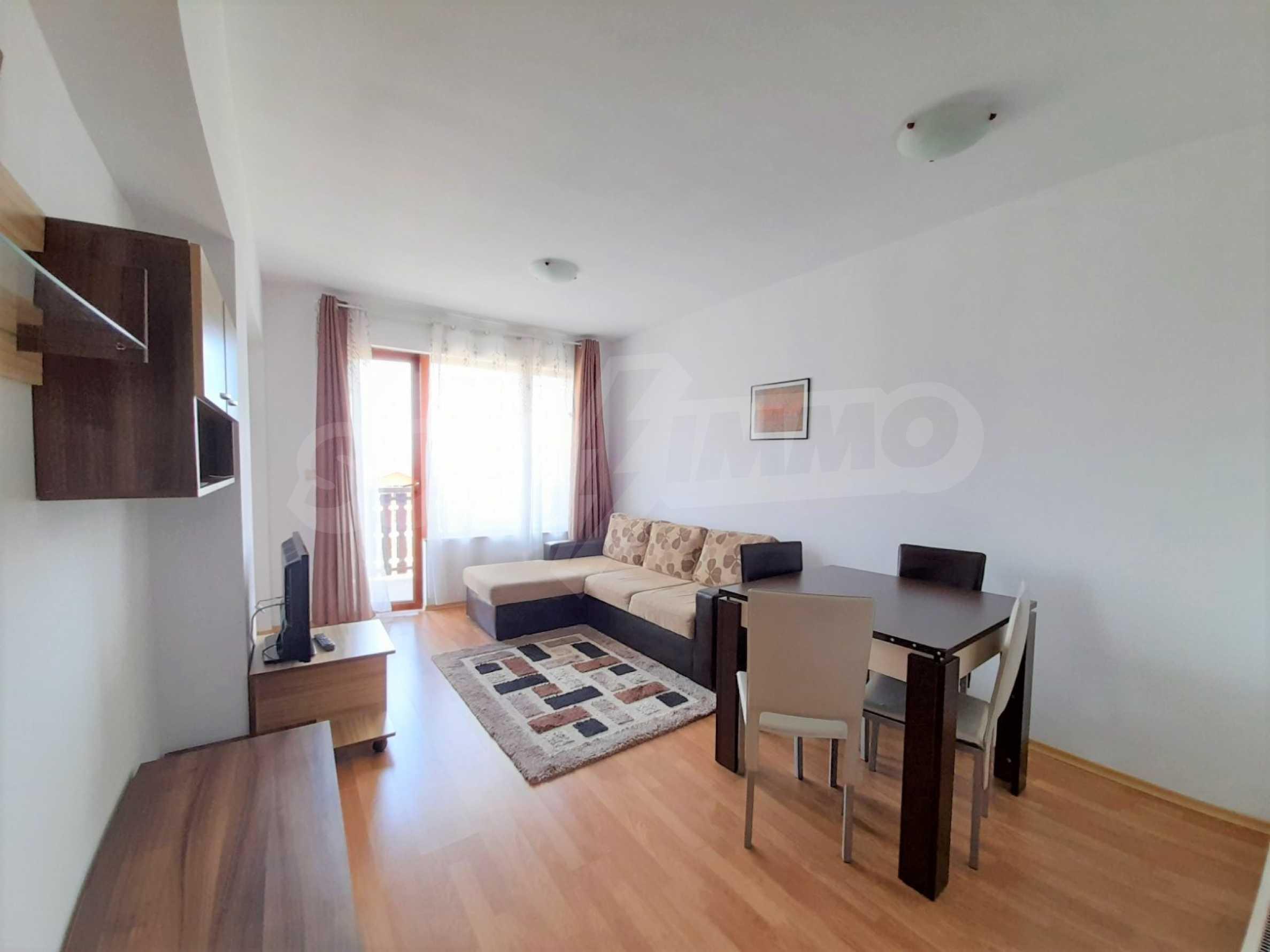 Уютен двустаен апартамент, разположен в комплекс Топ Лодж, само на метри от ски лифта в Банско