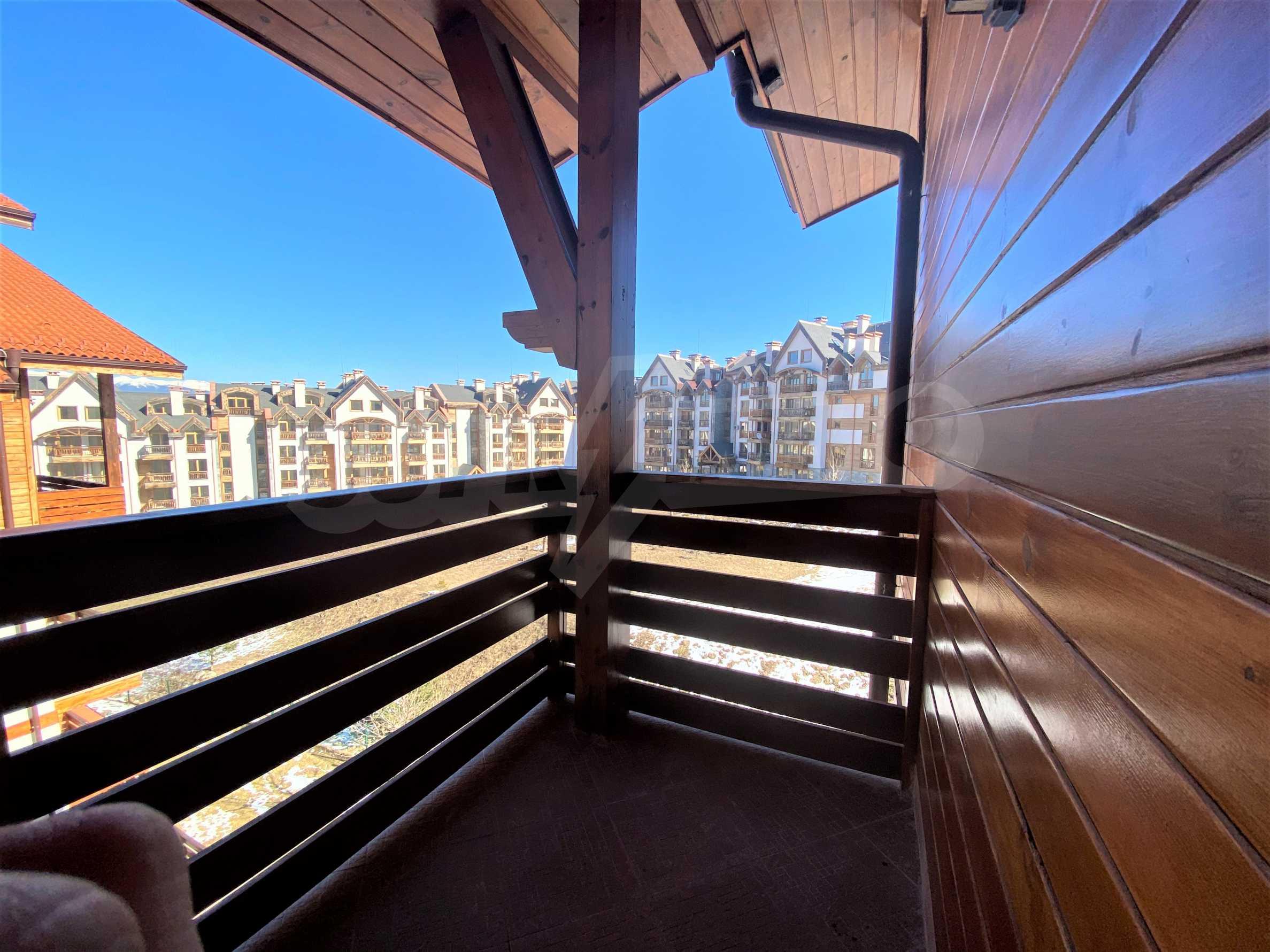 Обзаведен двустаен апартамент в луксозен СПА комплекс в Банско 11