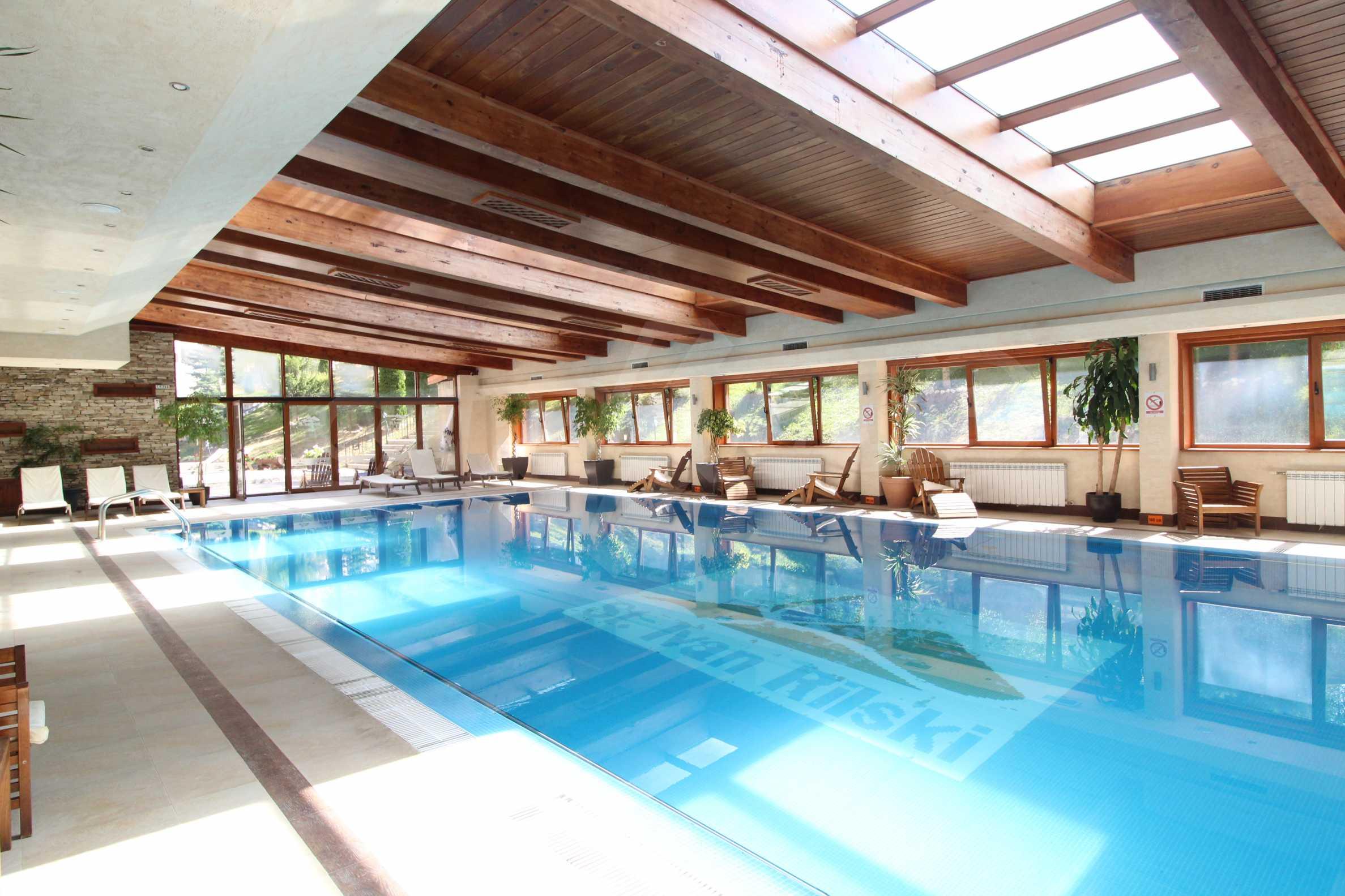 Обзаведен двустаен апартамент в луксозен СПА комплекс в Банско 14