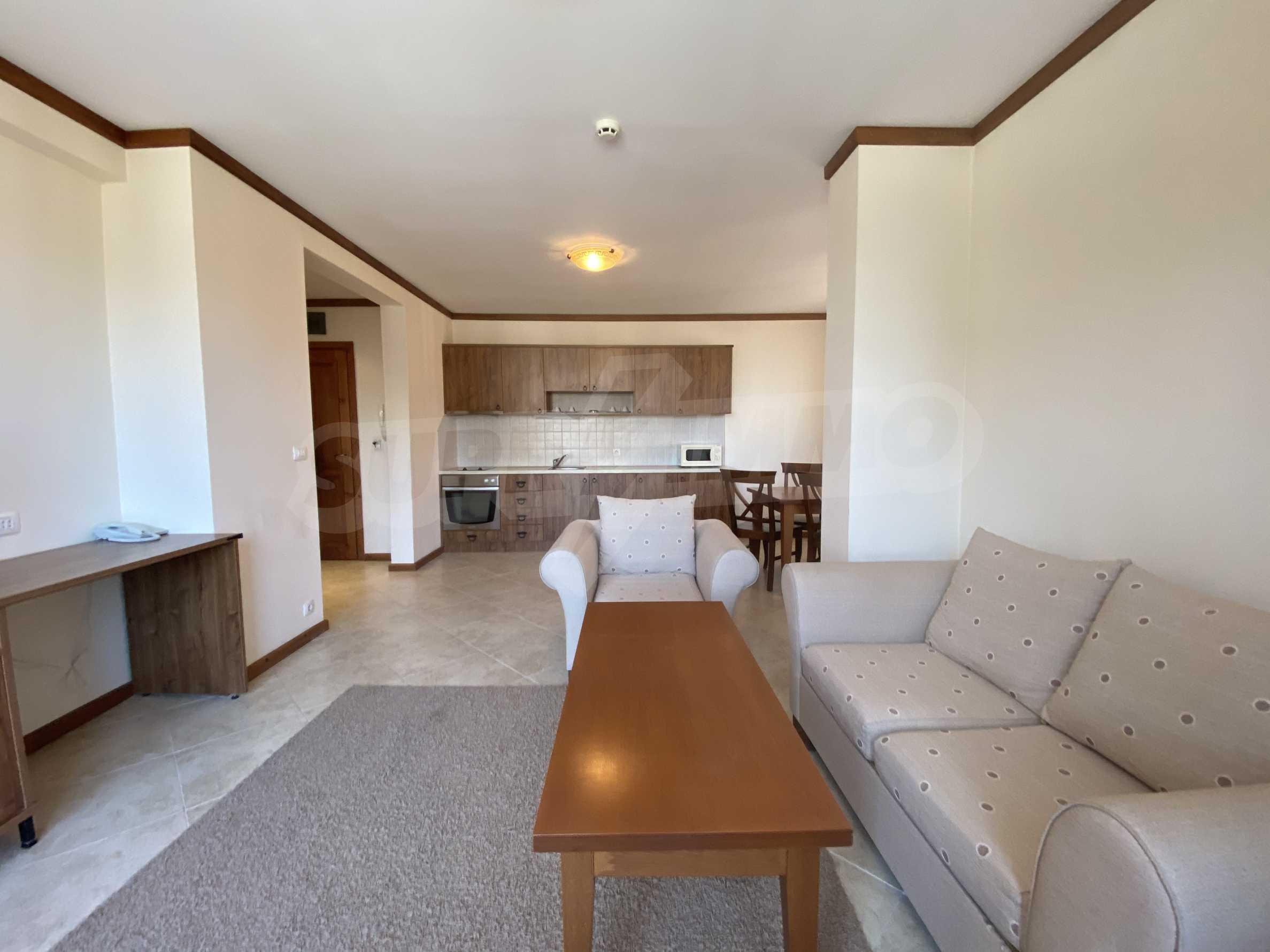 Обзаведен двустаен апартамент в луксозен СПА комплекс в Банско 2