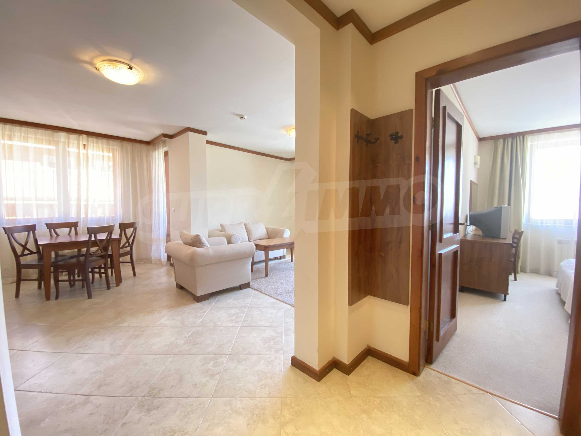 Обзаведен двустаен апартамент в луксозен СПА комплекс в Банско 7