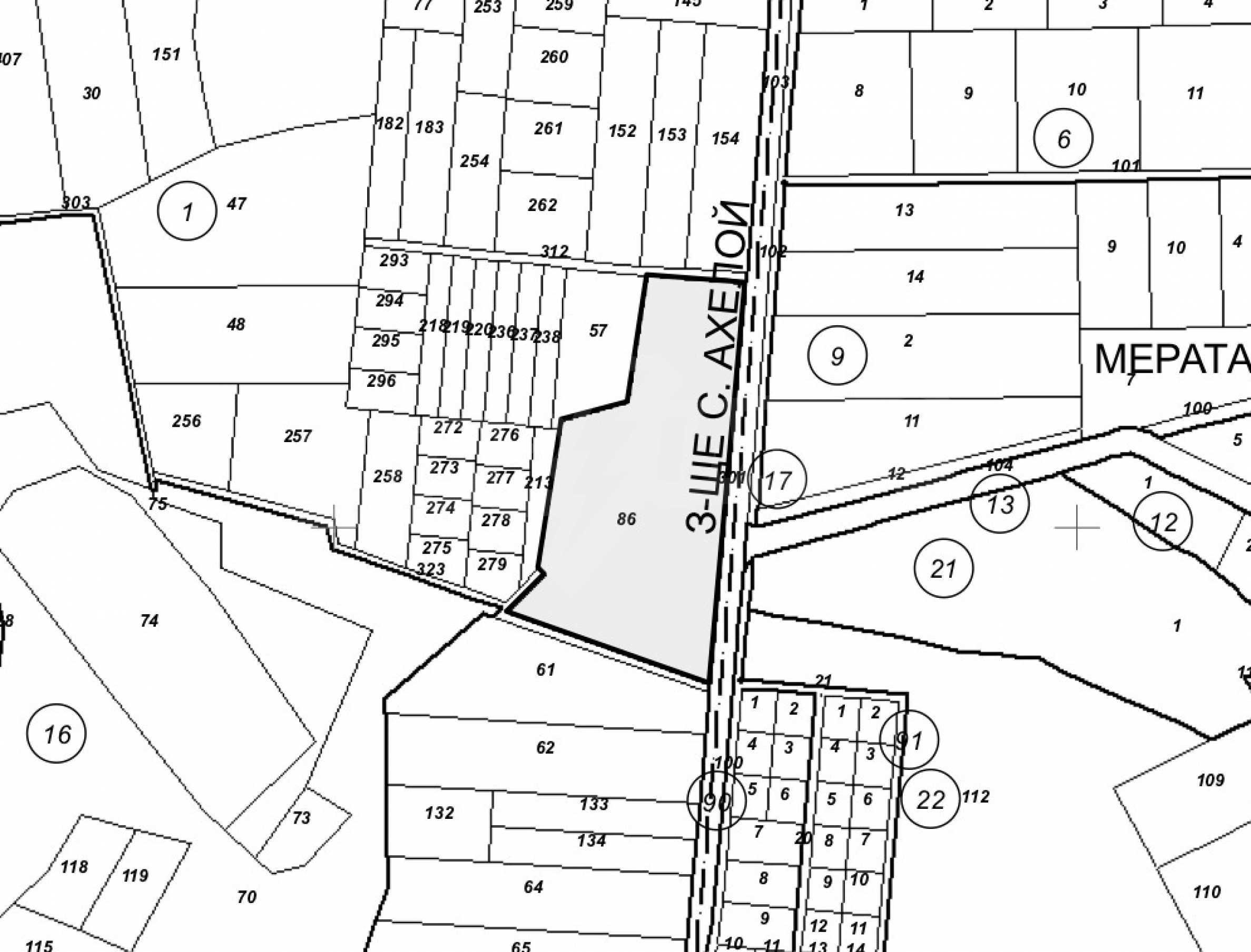 Парцел за инвестиция до исторически комплекс Ахелой 917, на няколко км от Слънчев бряг, до Тънково и Ахелой 5
