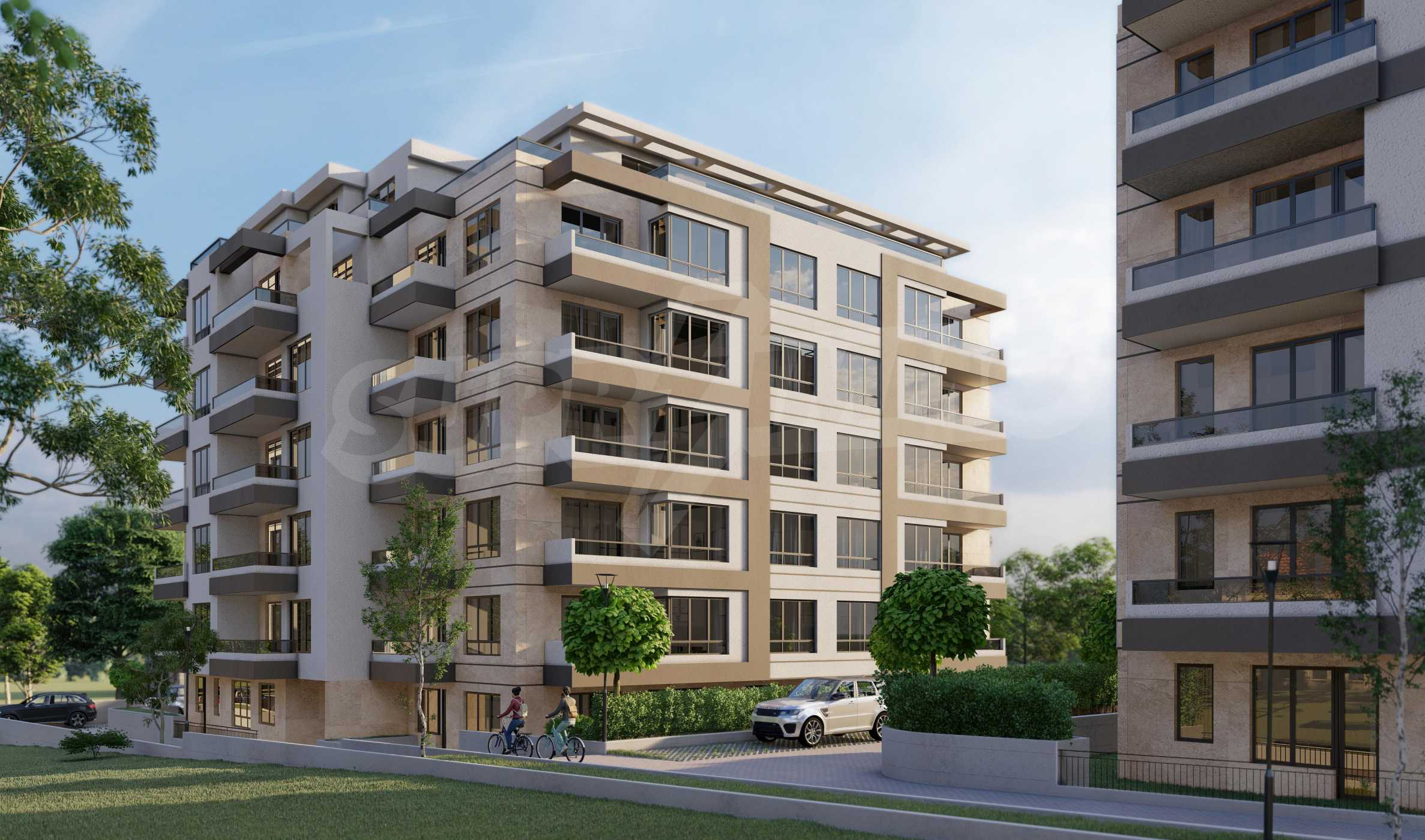 One bedroom apartment in a new complex near the metro station and Paradise Mall 9