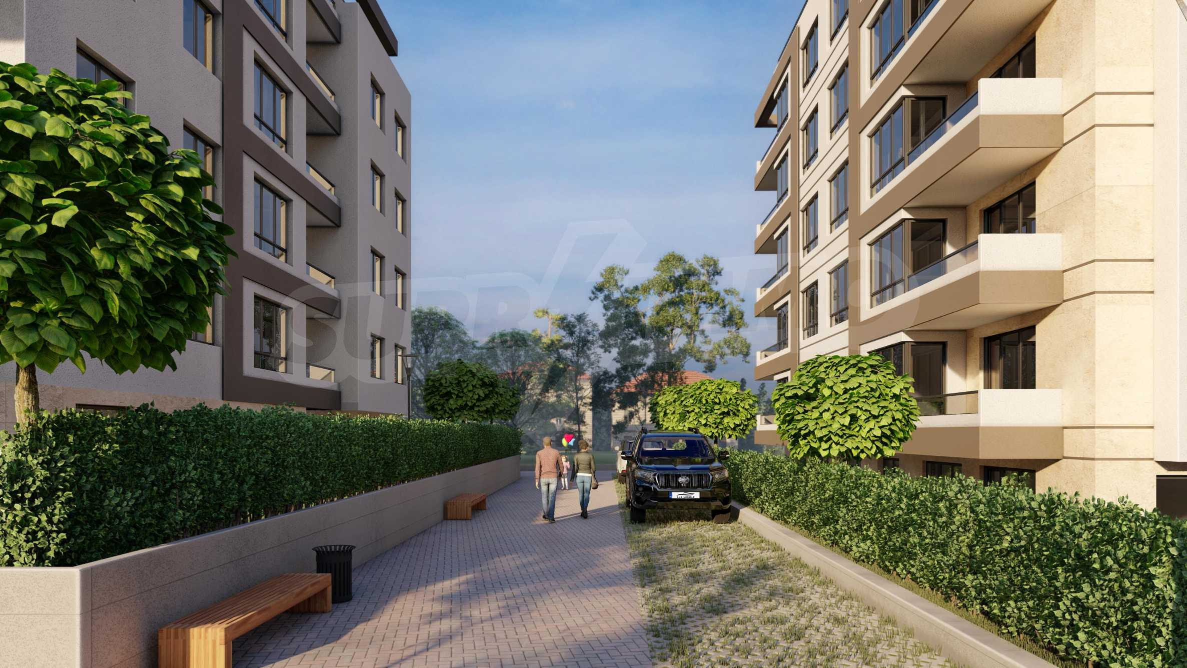 One bedroom apartment in a new complex near the metro station and Paradise Mall 10