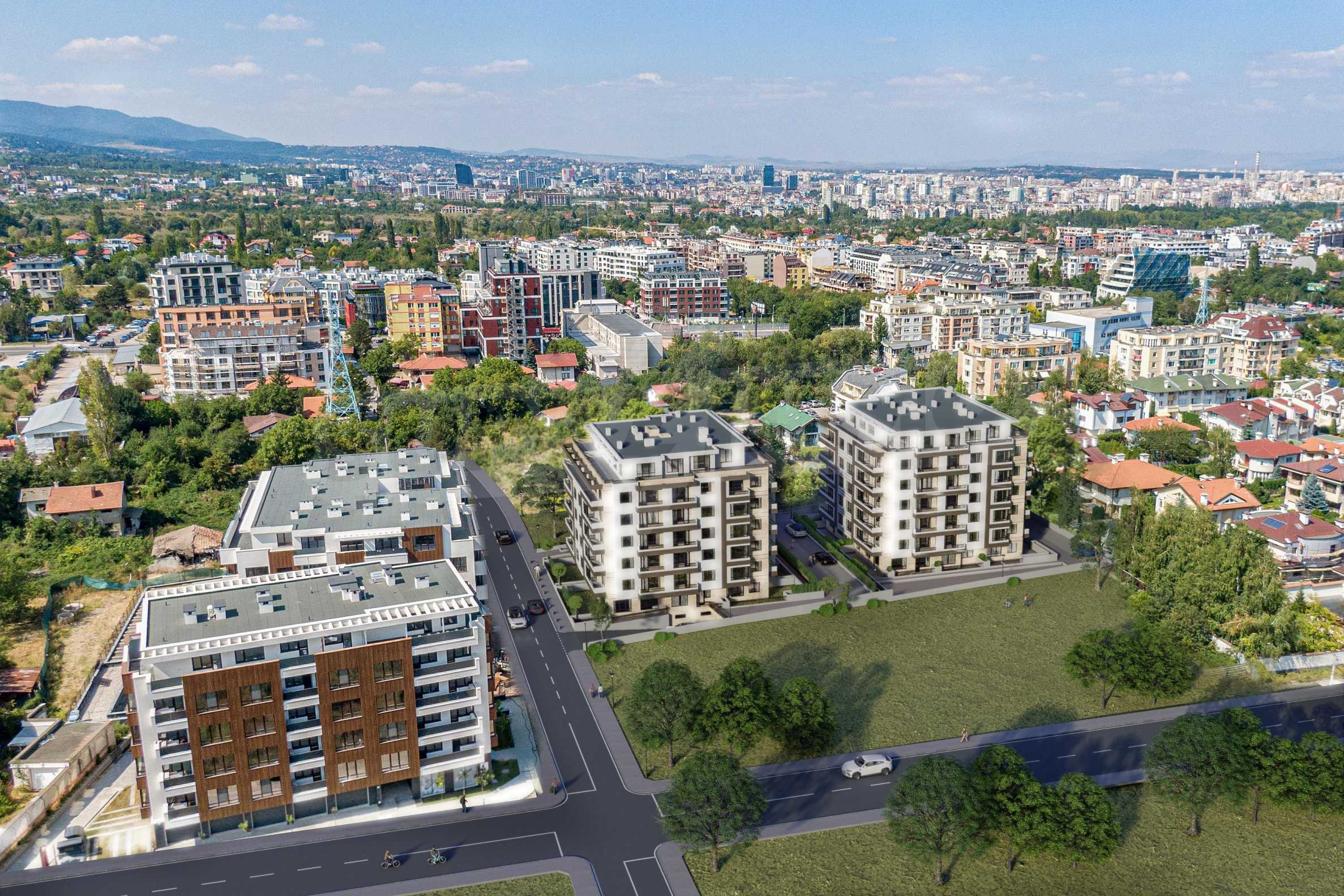 One bedroom apartment in a new complex near the metro station and Paradise Mall 2
