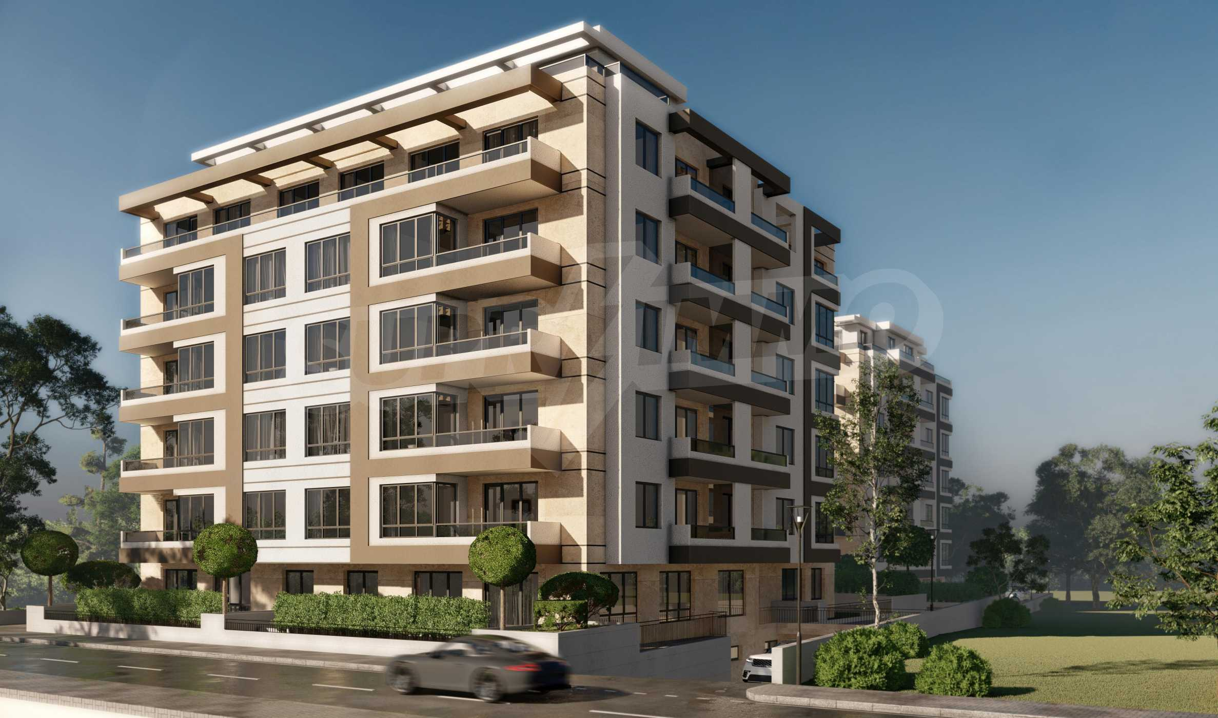 One bedroom apartment in a new complex near the metro station and Paradise Mall 5