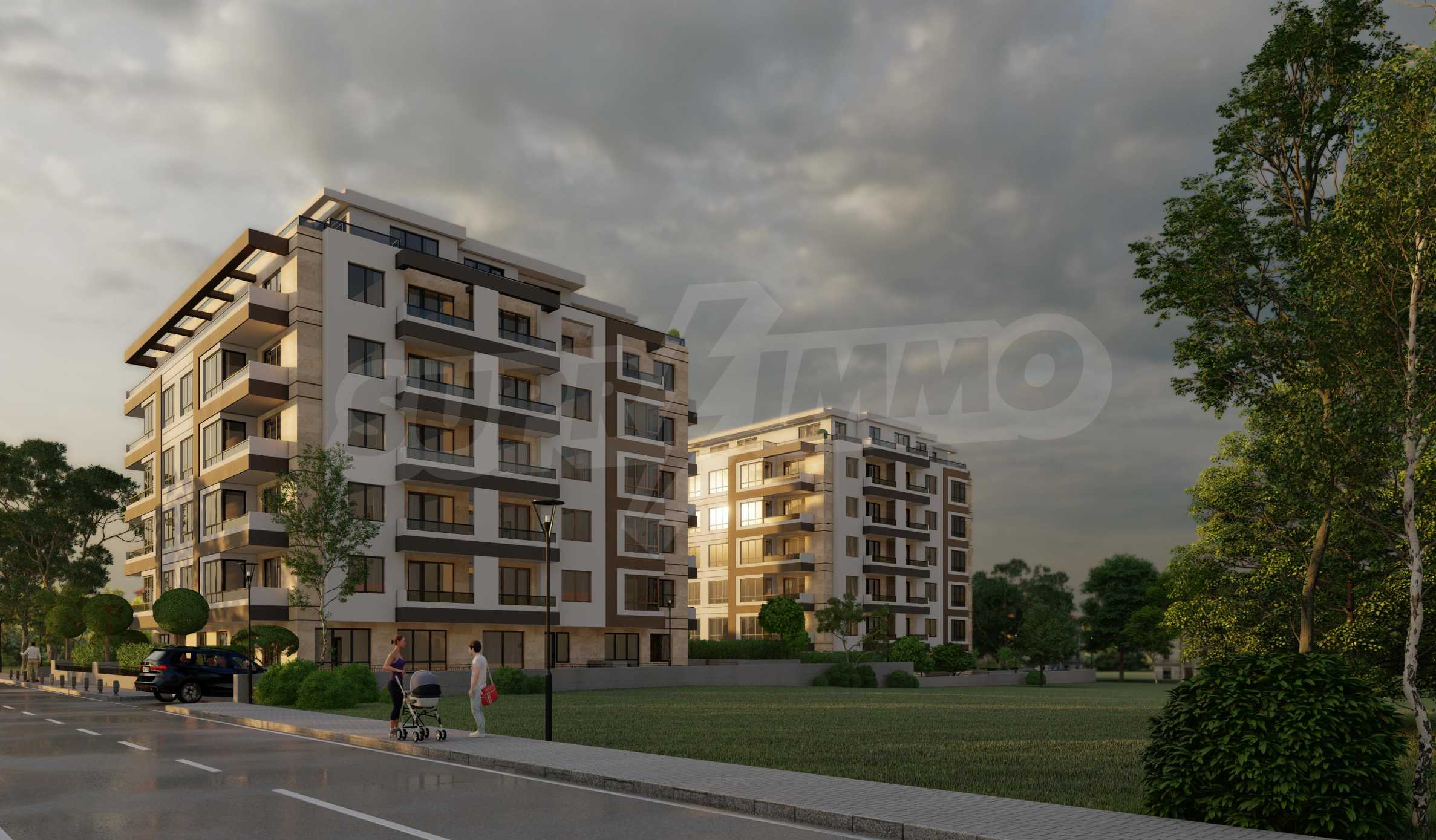 One bedroom apartment in a new complex near the metro station and Paradise Mall 6