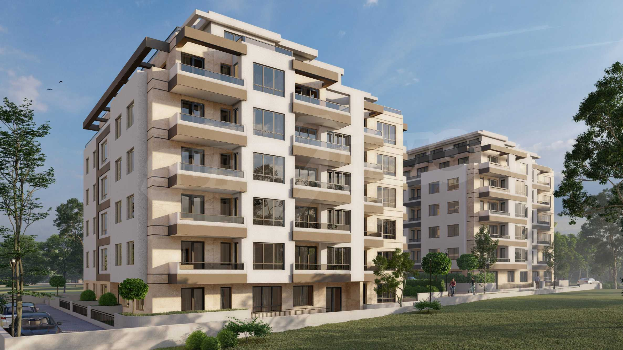 One bedroom apartment in a new complex near the metro station and Paradise Mall 7