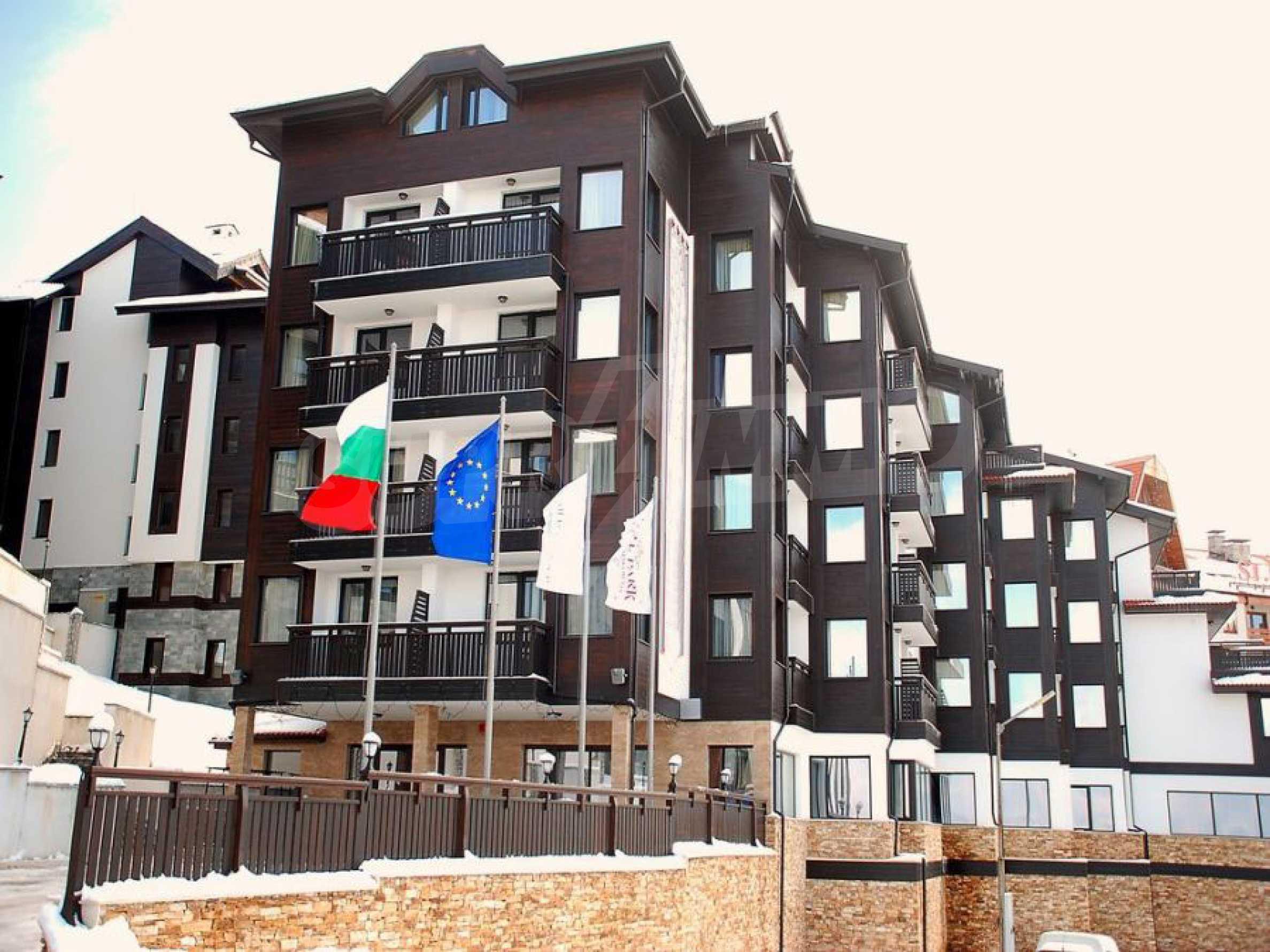 Необзаведен едностаен апартамент за продажба в СПА комплекс в Банско