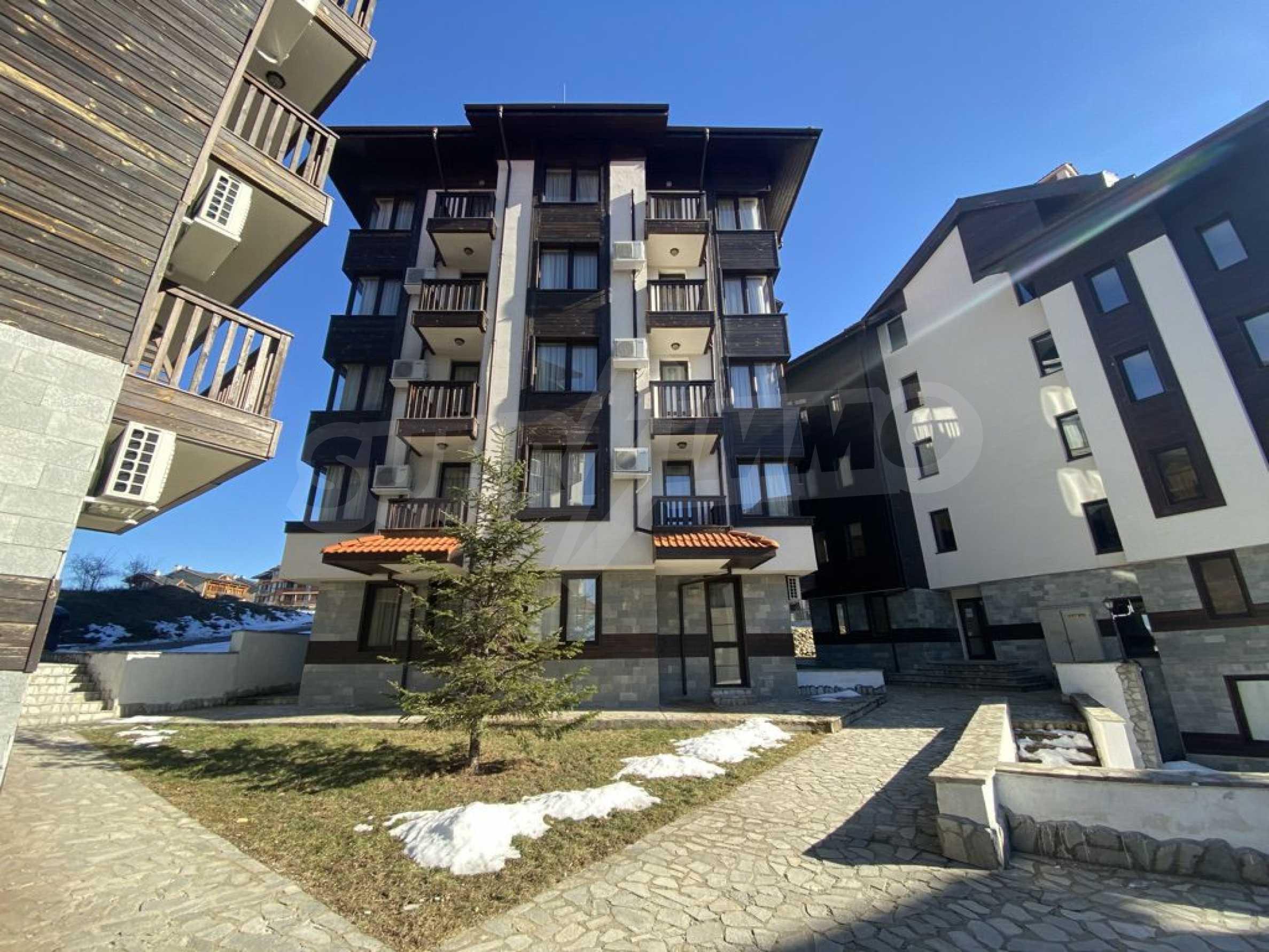 Необзаведен едностаен апартамент за продажба в СПА комплекс в Банско 5