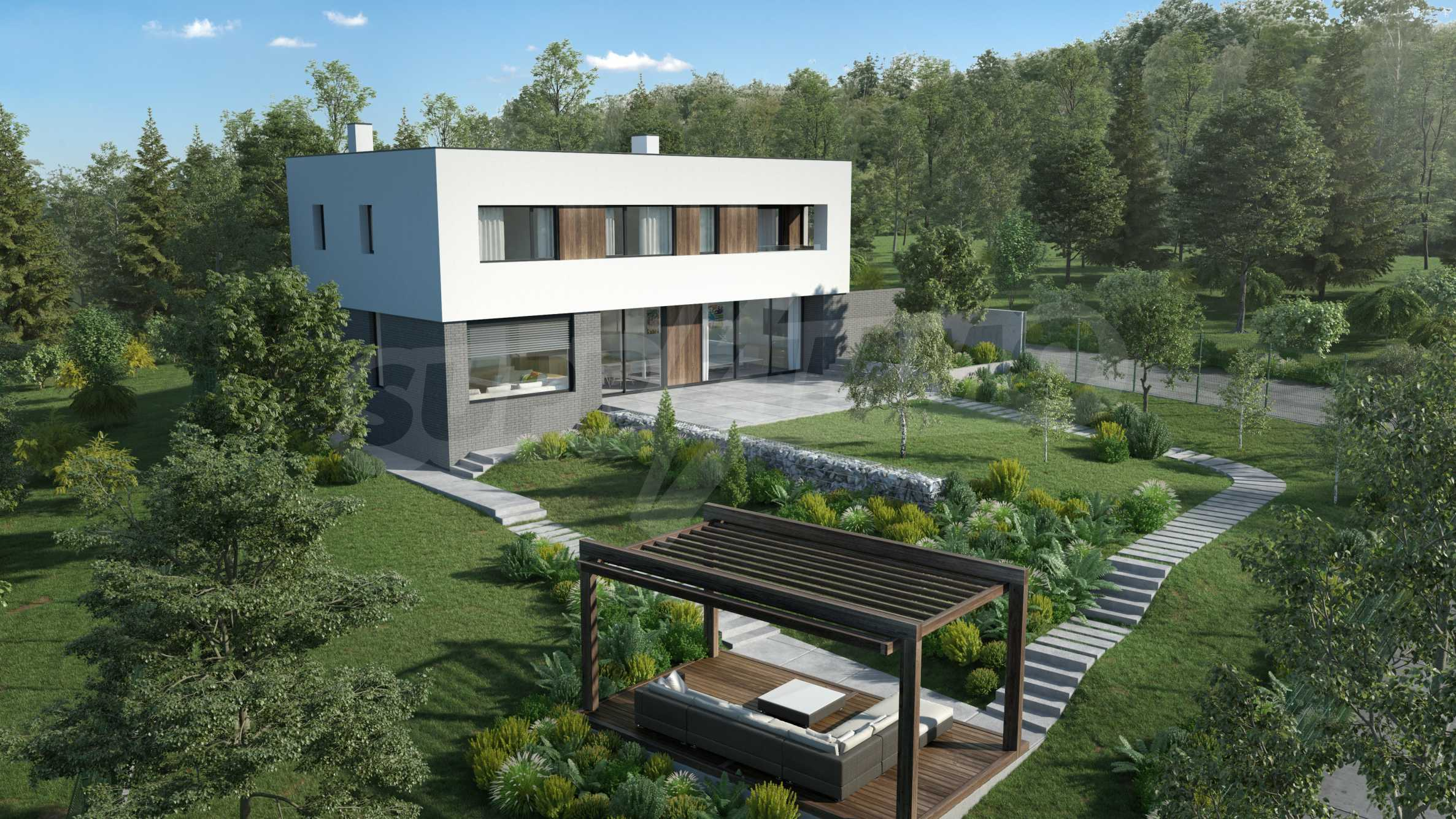 Plot of land with permission for construction of a modern house in the village of Golemo Buchino