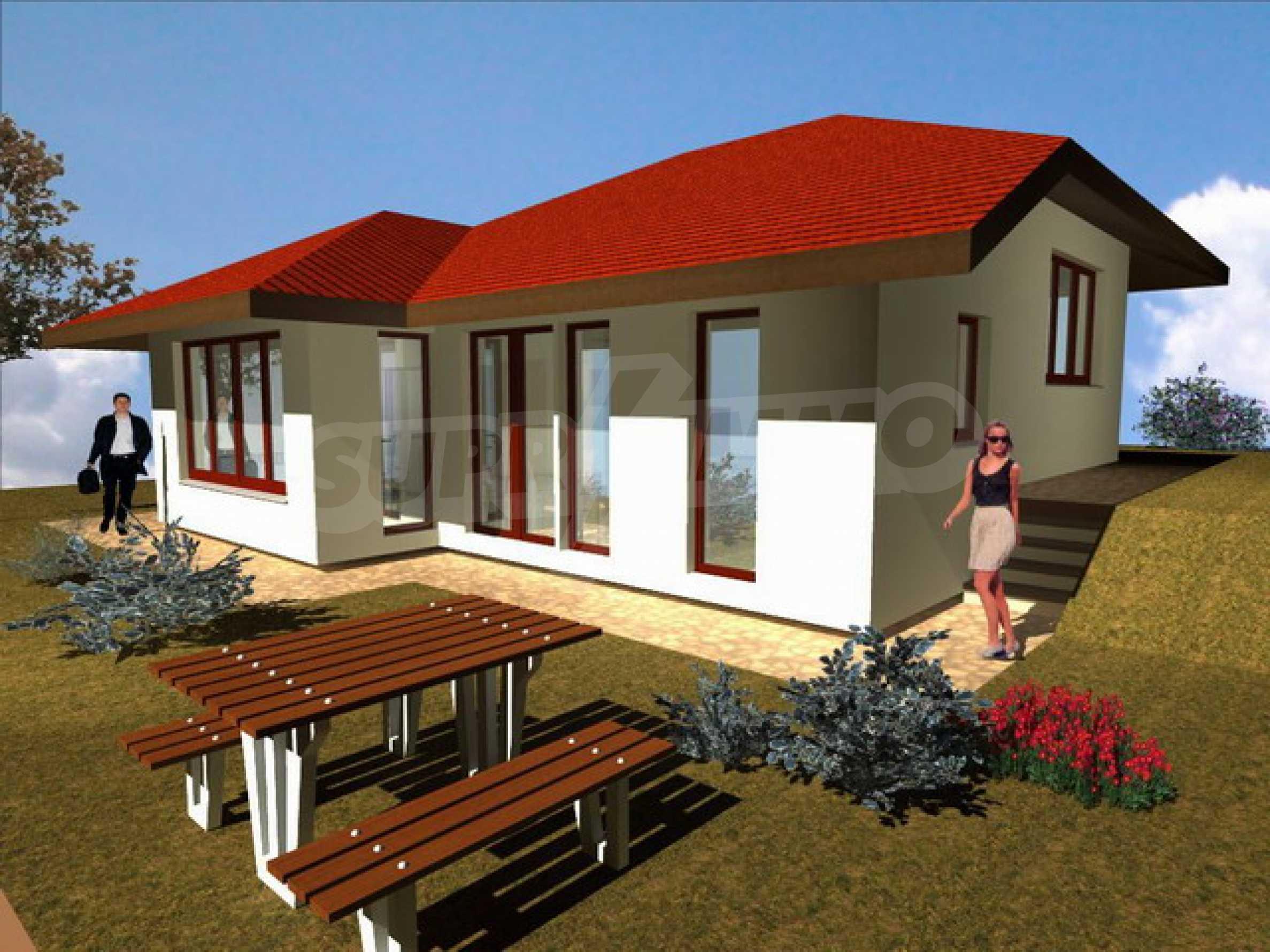 Уединенная деревенька с домами загородного типа 1