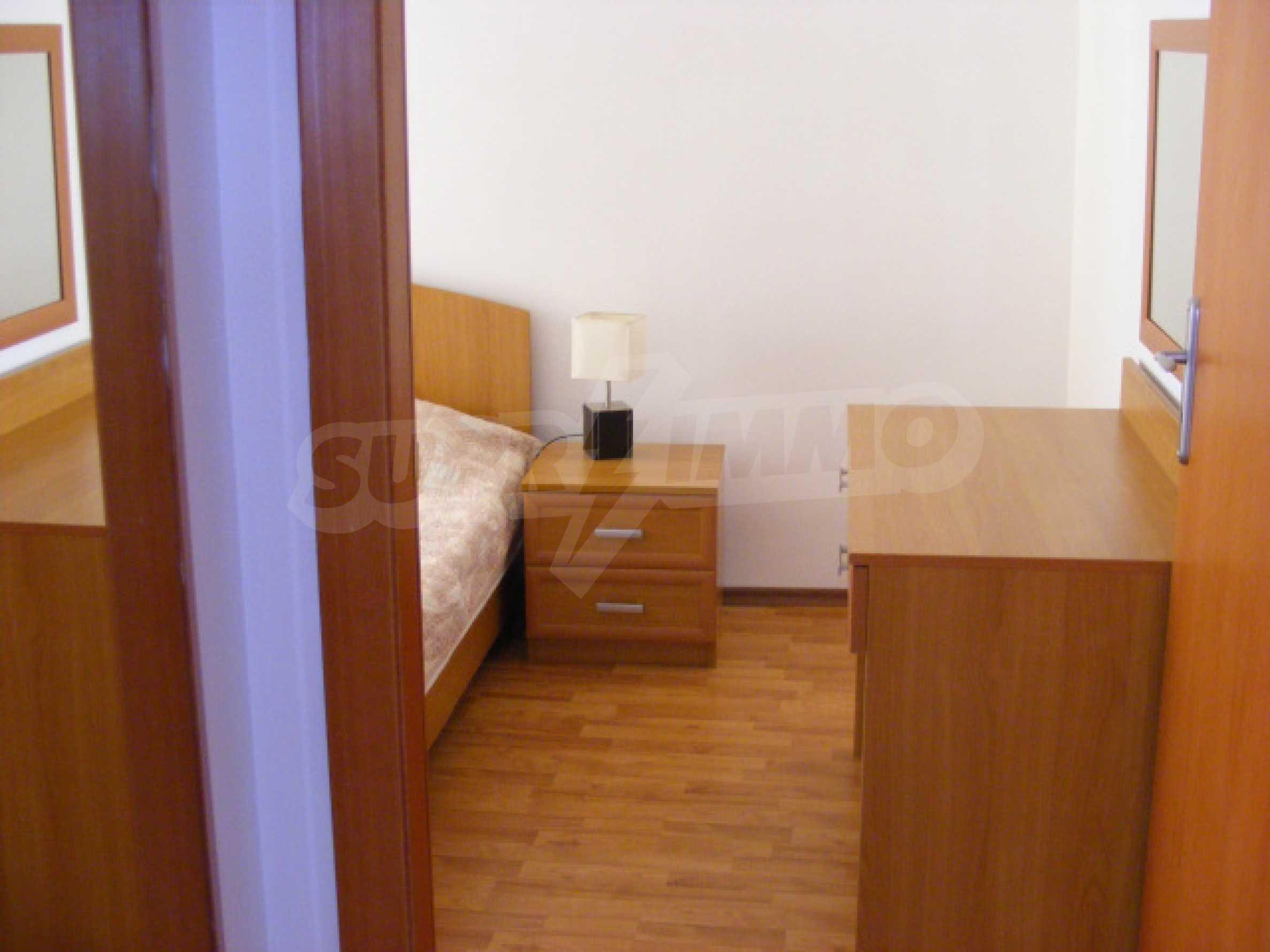 Komplett möbliertes Apartment mit 1 Schlafzimmer in Sunny Beach Goldener Sand, mit Meerblick 11