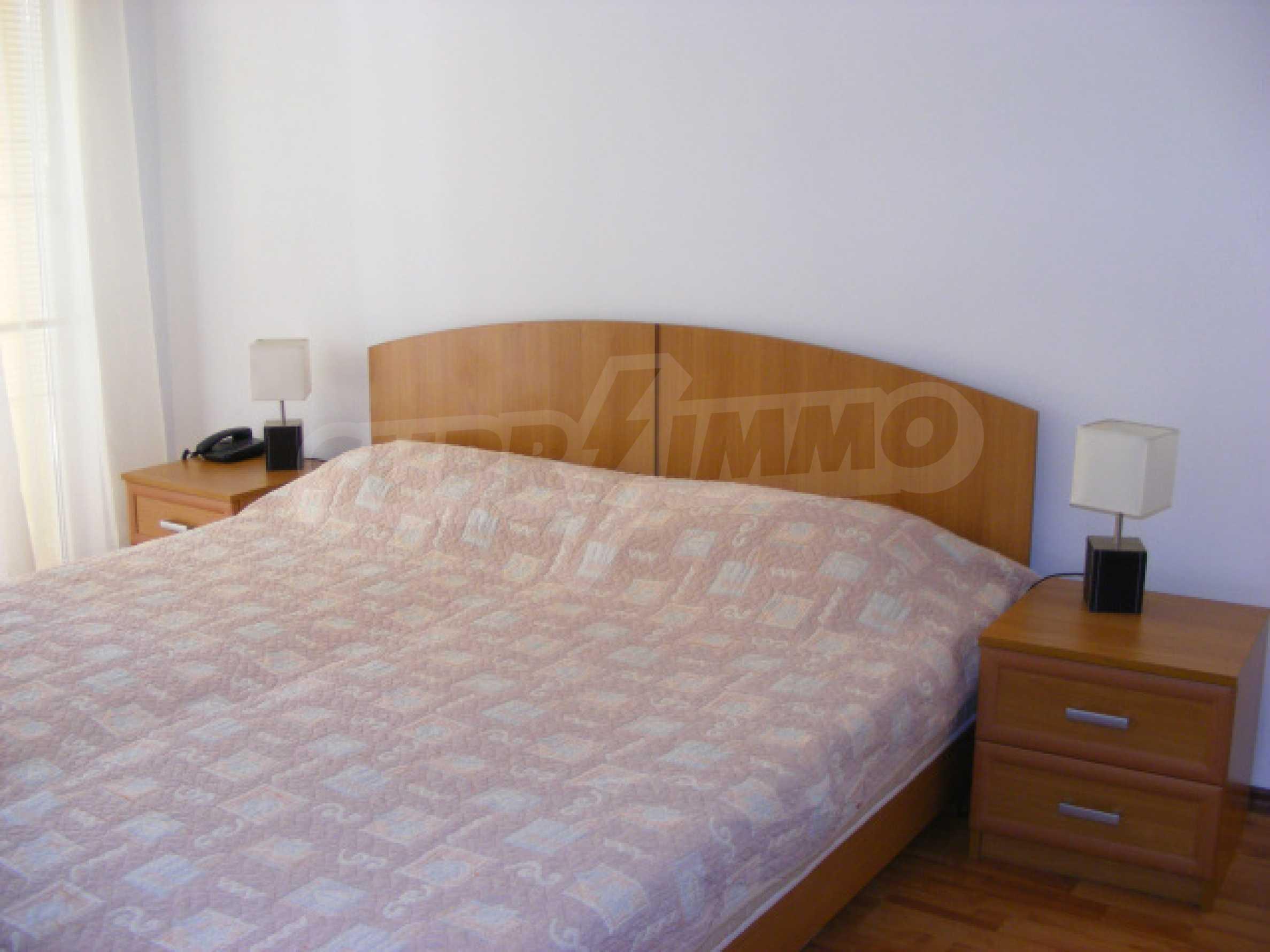Komplett möbliertes Apartment mit 1 Schlafzimmer in Sunny Beach Goldener Sand, mit Meerblick 12