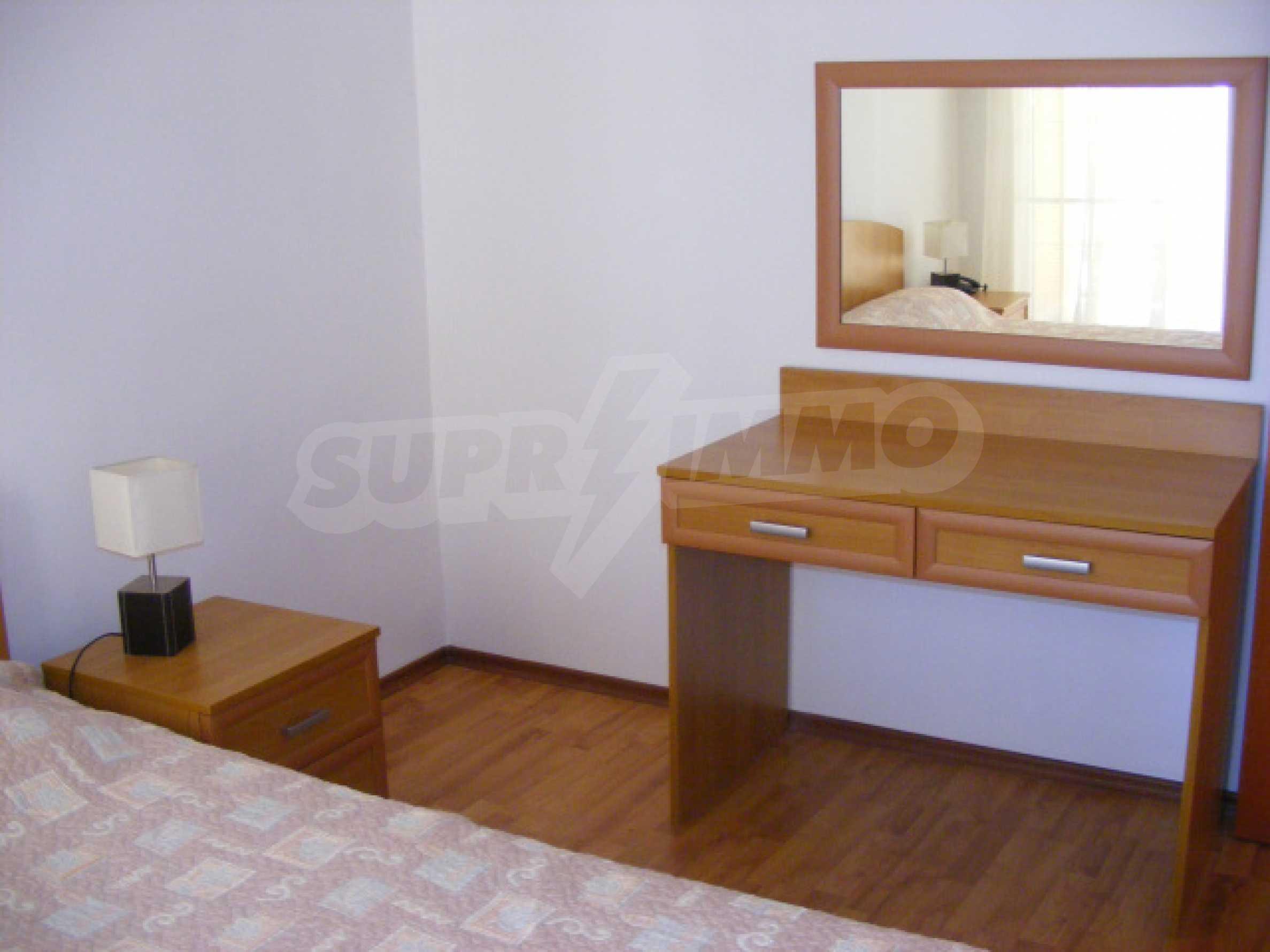 Komplett möbliertes Apartment mit 1 Schlafzimmer in Sunny Beach Goldener Sand, mit Meerblick 14