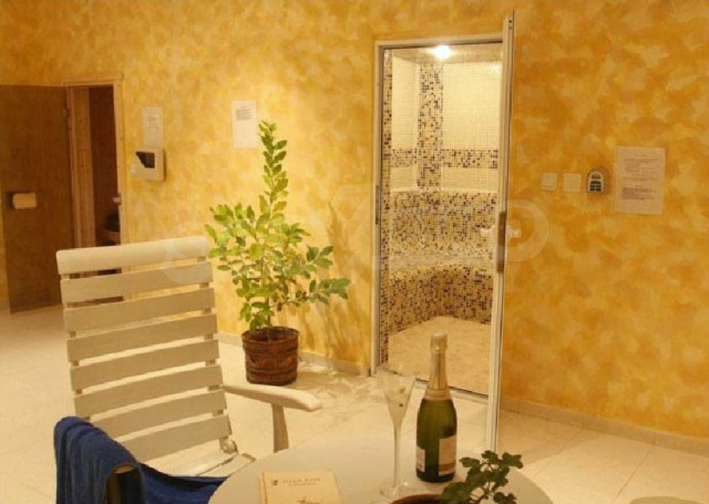 Komplett möbliertes Apartment mit 1 Schlafzimmer in Sunny Beach Goldener Sand, mit Meerblick 18