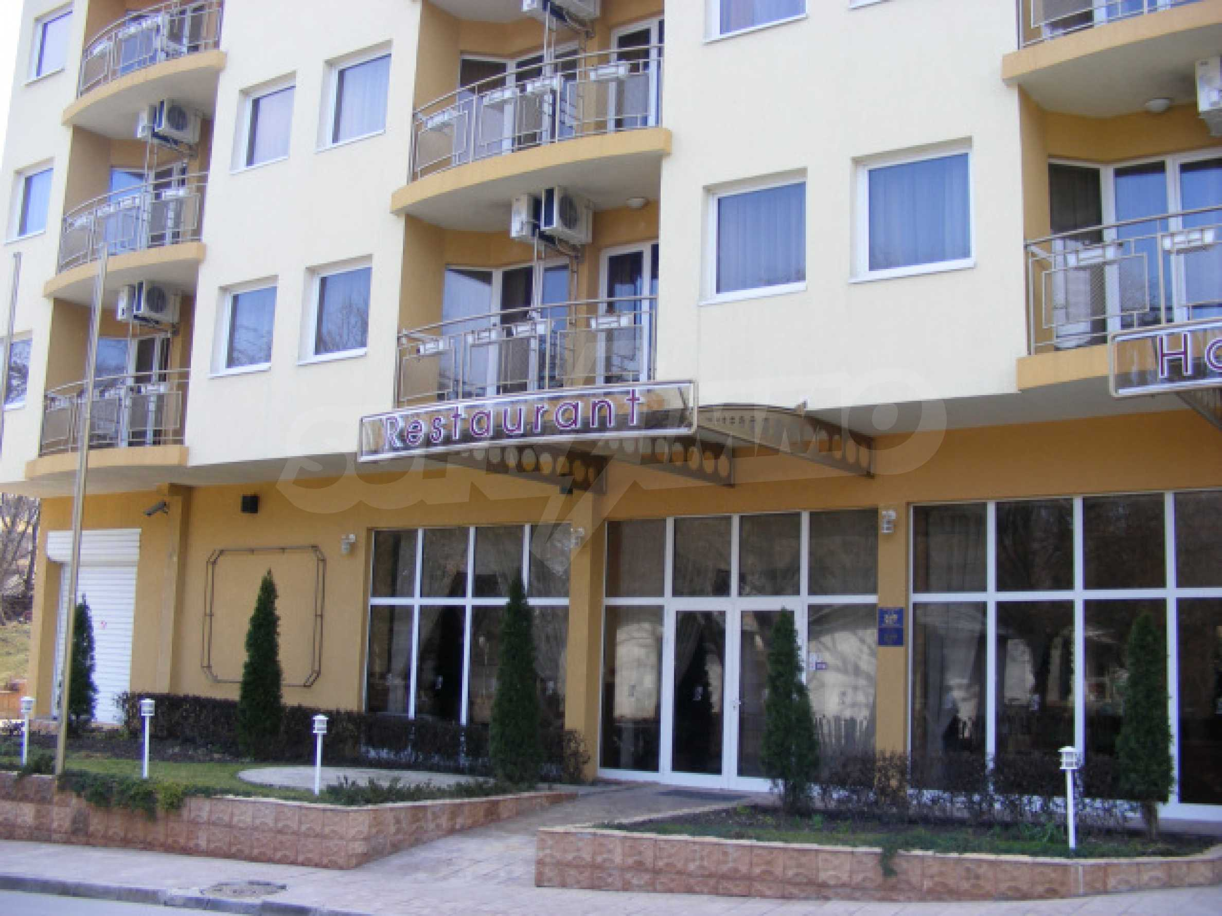 Komplett möbliertes Apartment mit 1 Schlafzimmer in Sunny Beach Goldener Sand, mit Meerblick 22