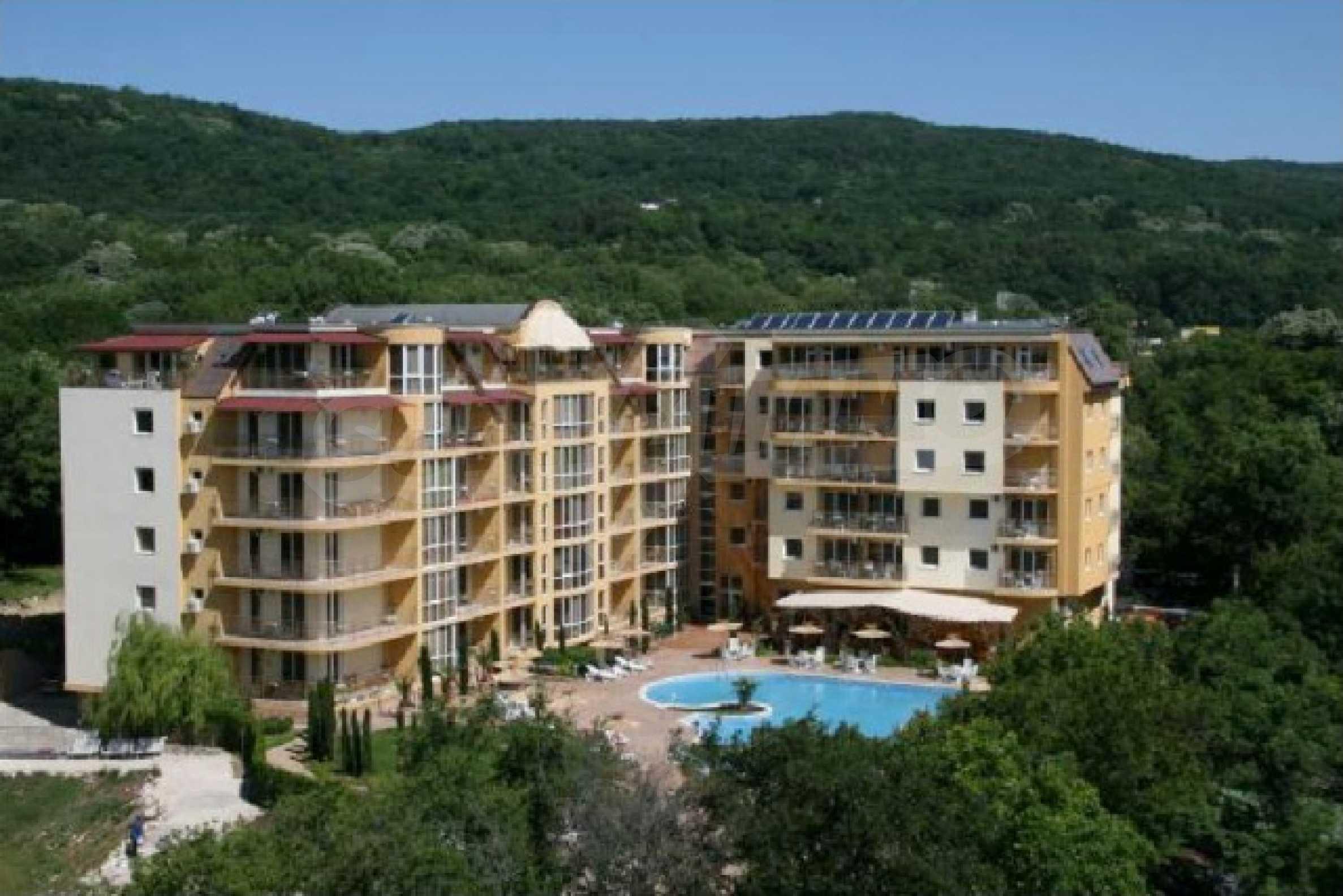 Komplett möbliertes Apartment mit 1 Schlafzimmer in Sunny Beach Goldener Sand, mit Meerblick 28