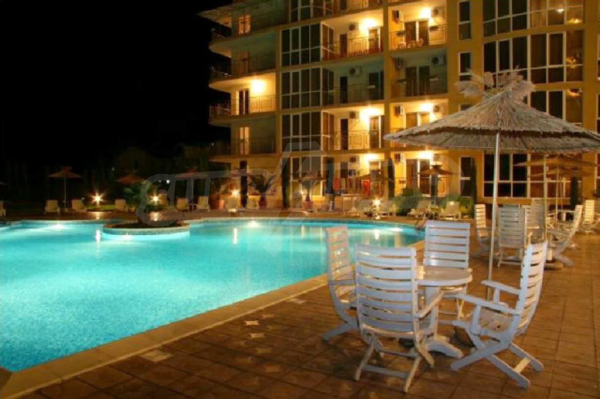 Komplett möbliertes Apartment mit 1 Schlafzimmer in Sunny Beach Goldener Sand, mit Meerblick 32