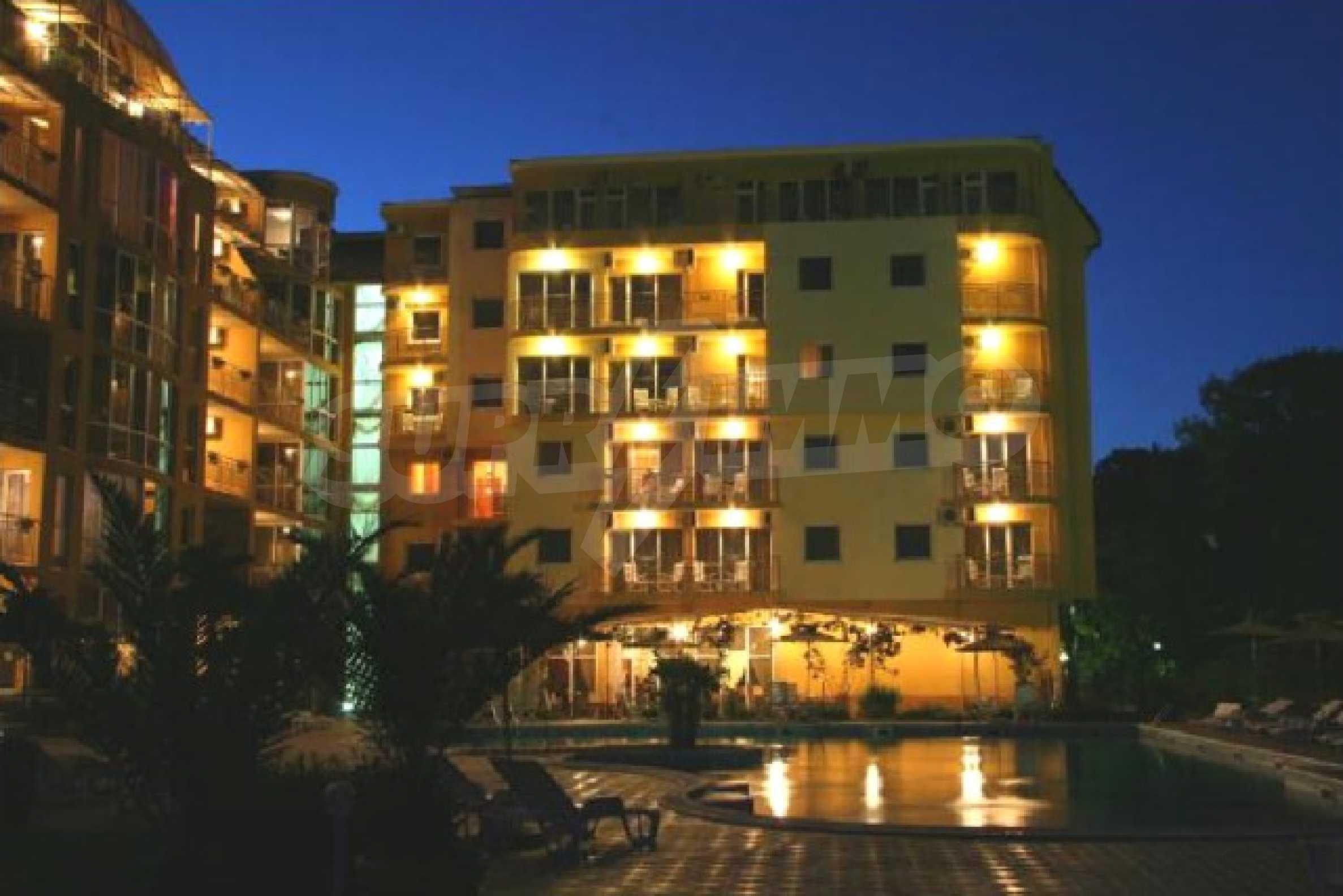 Komplett möbliertes Apartment mit 1 Schlafzimmer in Sunny Beach Goldener Sand, mit Meerblick 33