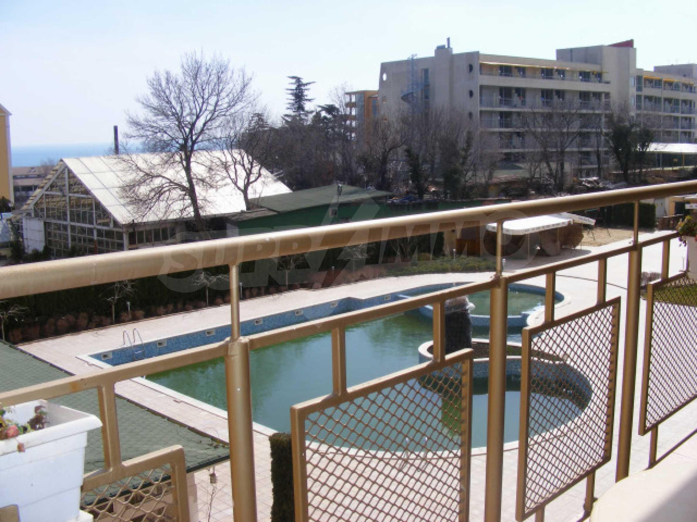 Komplett möbliertes Apartment mit 1 Schlafzimmer in Sunny Beach Goldener Sand, mit Meerblick 7