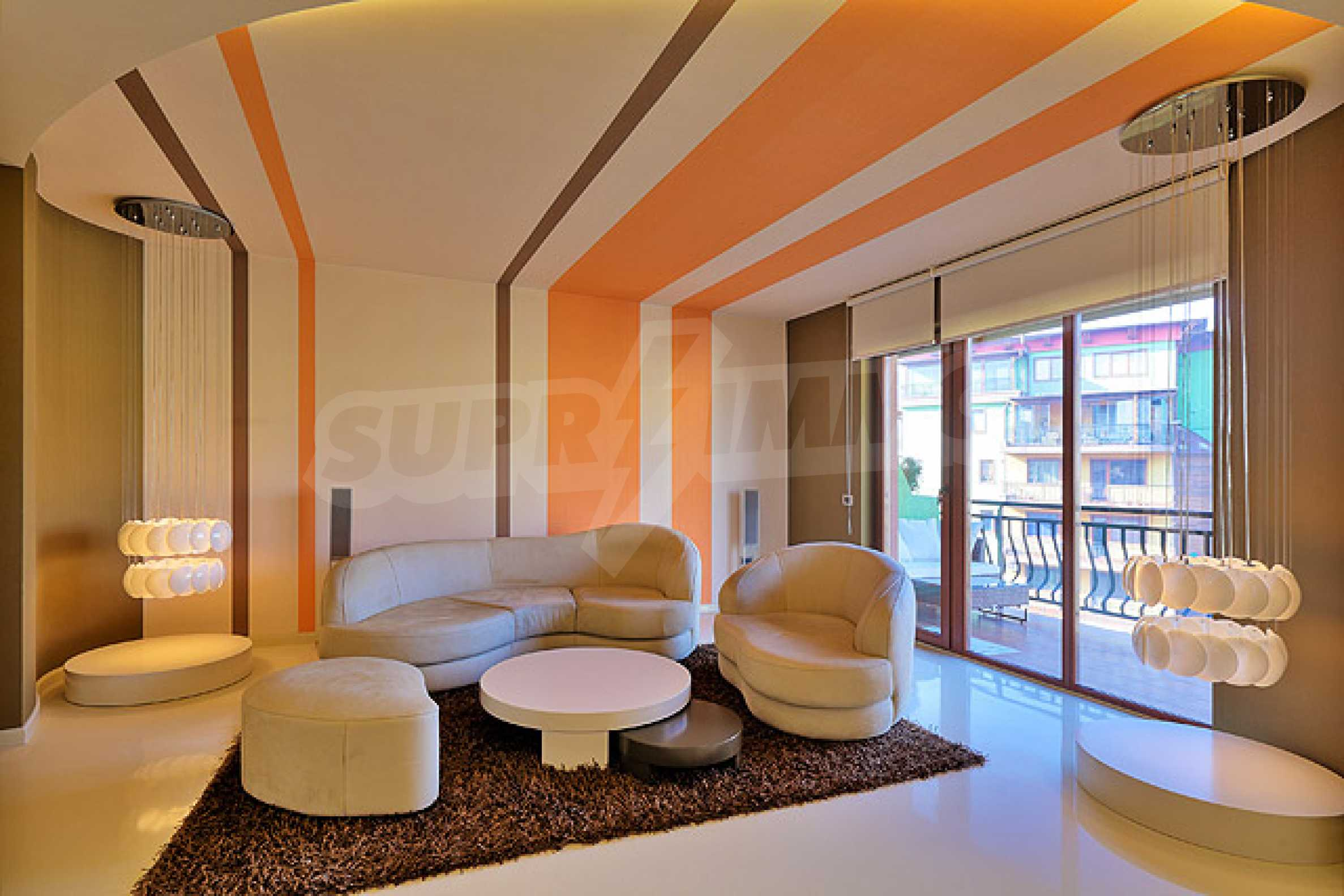 Luxuriously furnished one-bedroom apartment  6