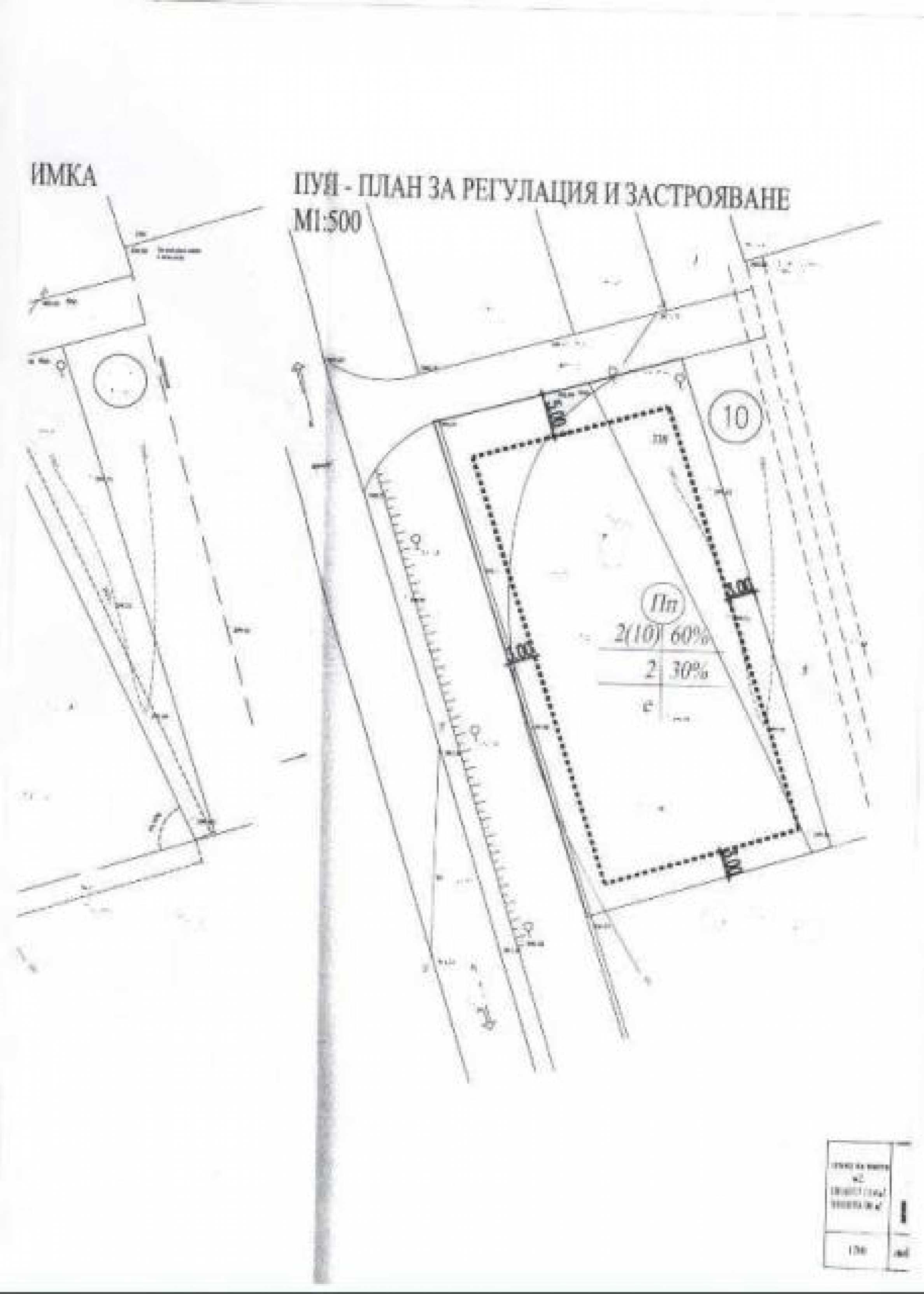 A regulated plot for industrial purposes in Kichevo 5