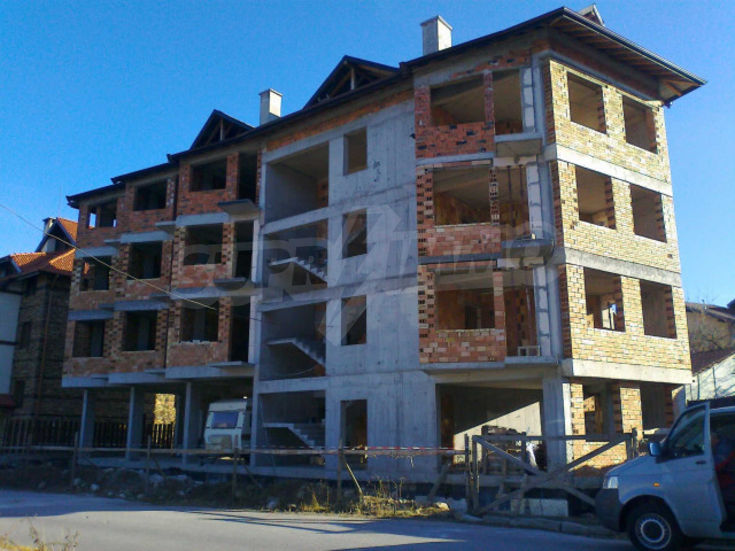 Three-storey hotel at shell stage for sale in Bansko  17
