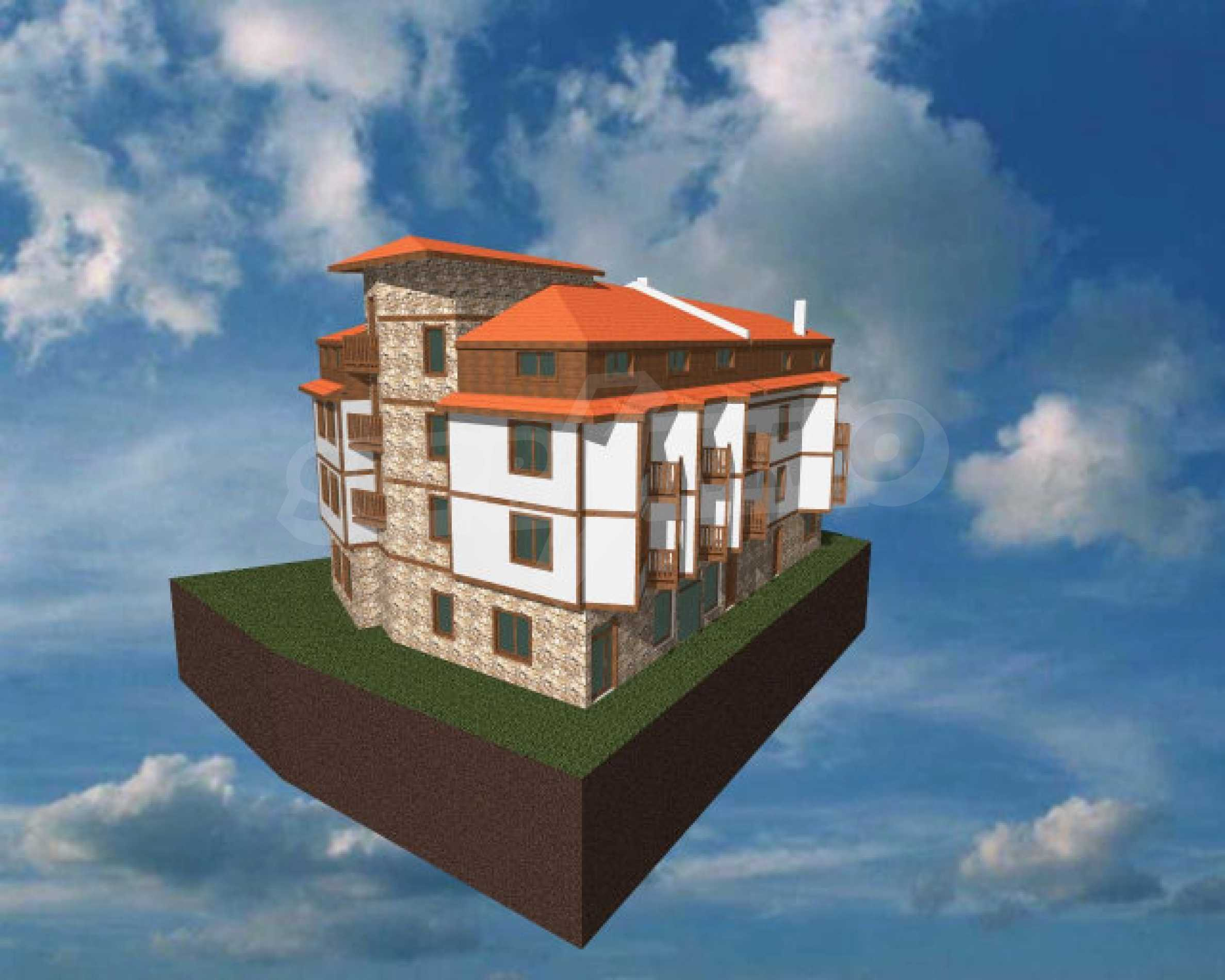 Three-storey hotel at shell stage for sale in Bansko  11
