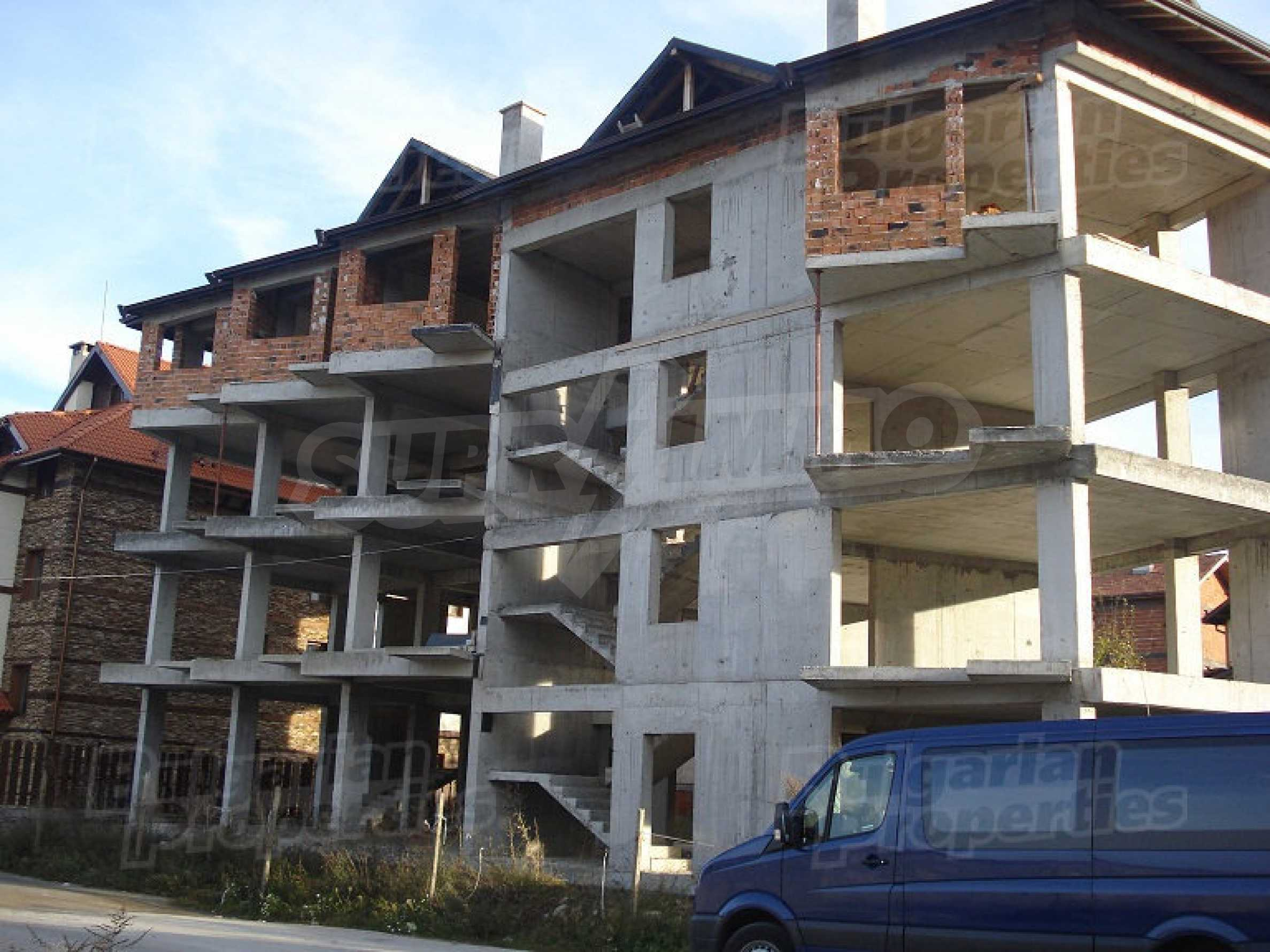 Three-storey hotel at shell stage for sale in Bansko  15