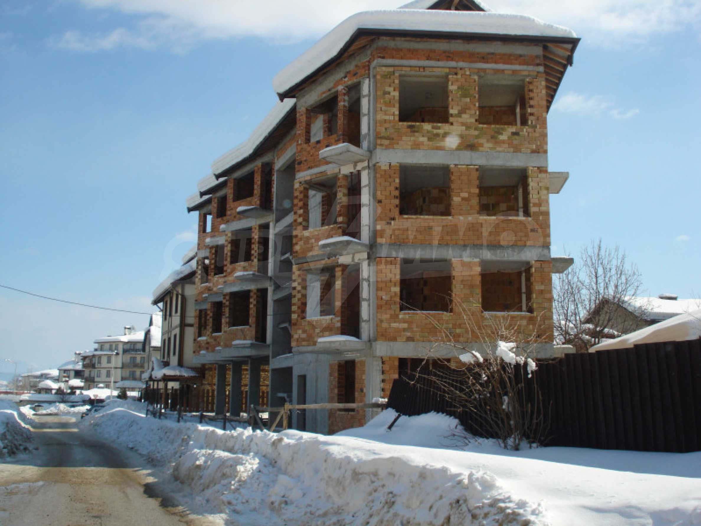Three-storey hotel at shell stage for sale in Bansko