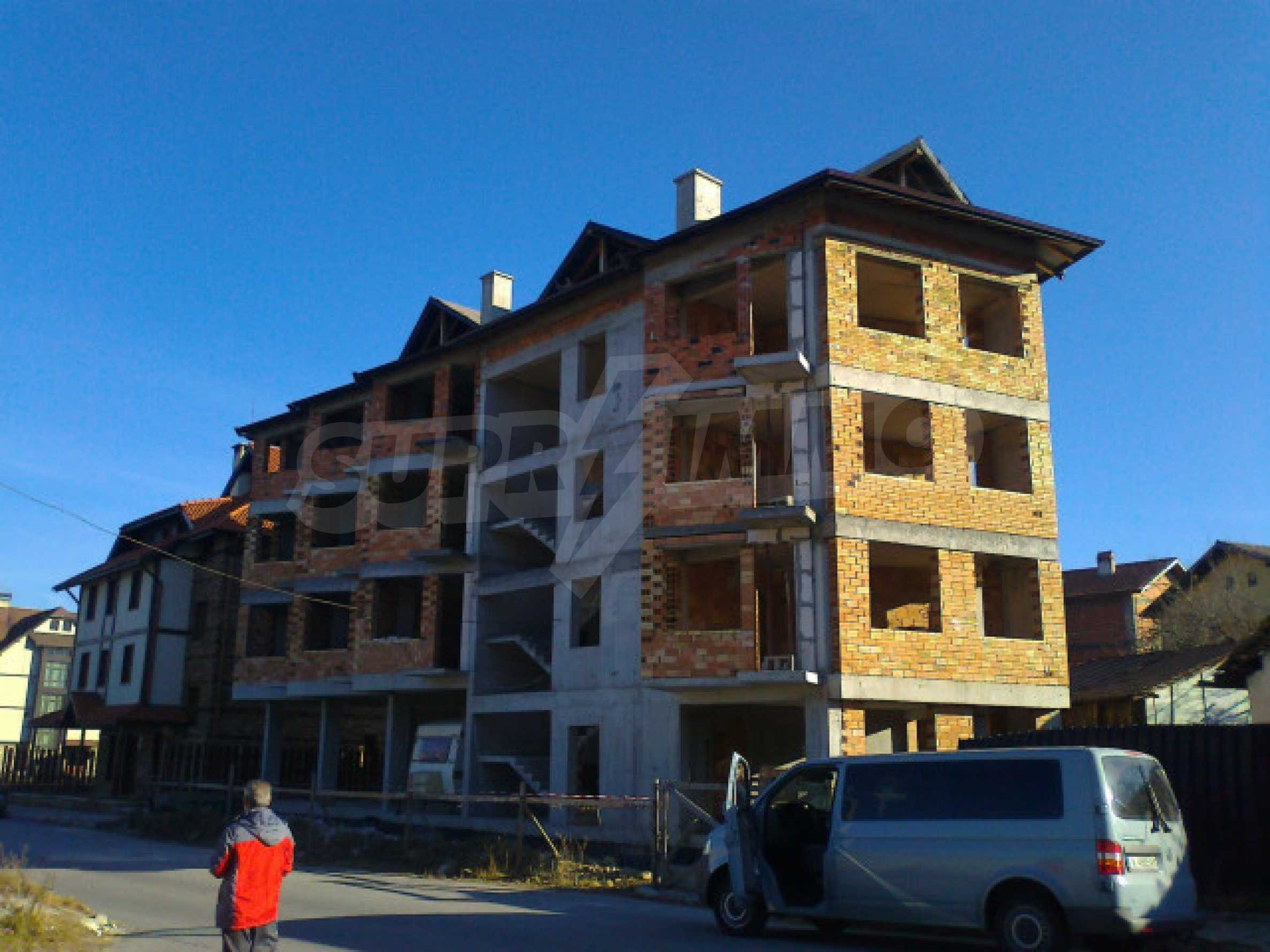 Three-storey hotel at shell stage for sale in Bansko  1
