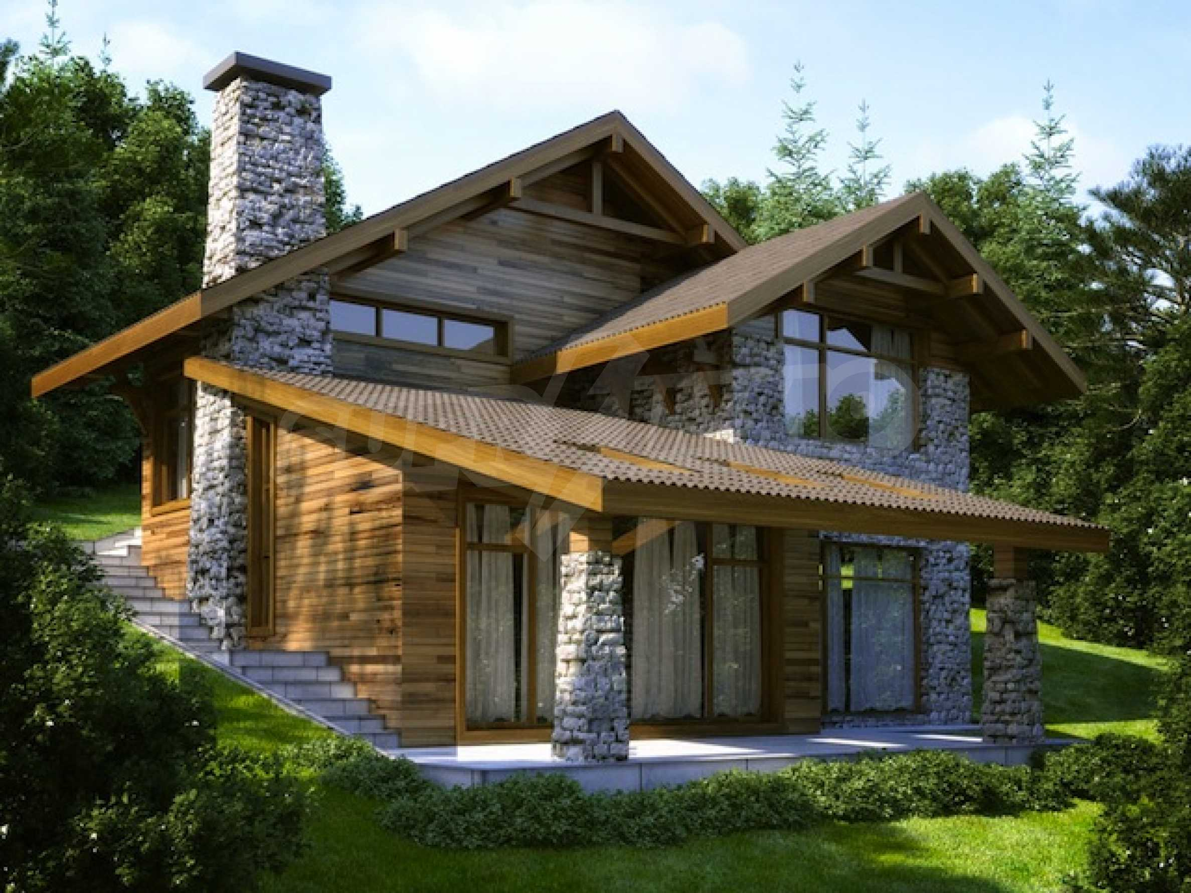 Godlevo Chalets (plot with project) near Bansko and Razlog 2