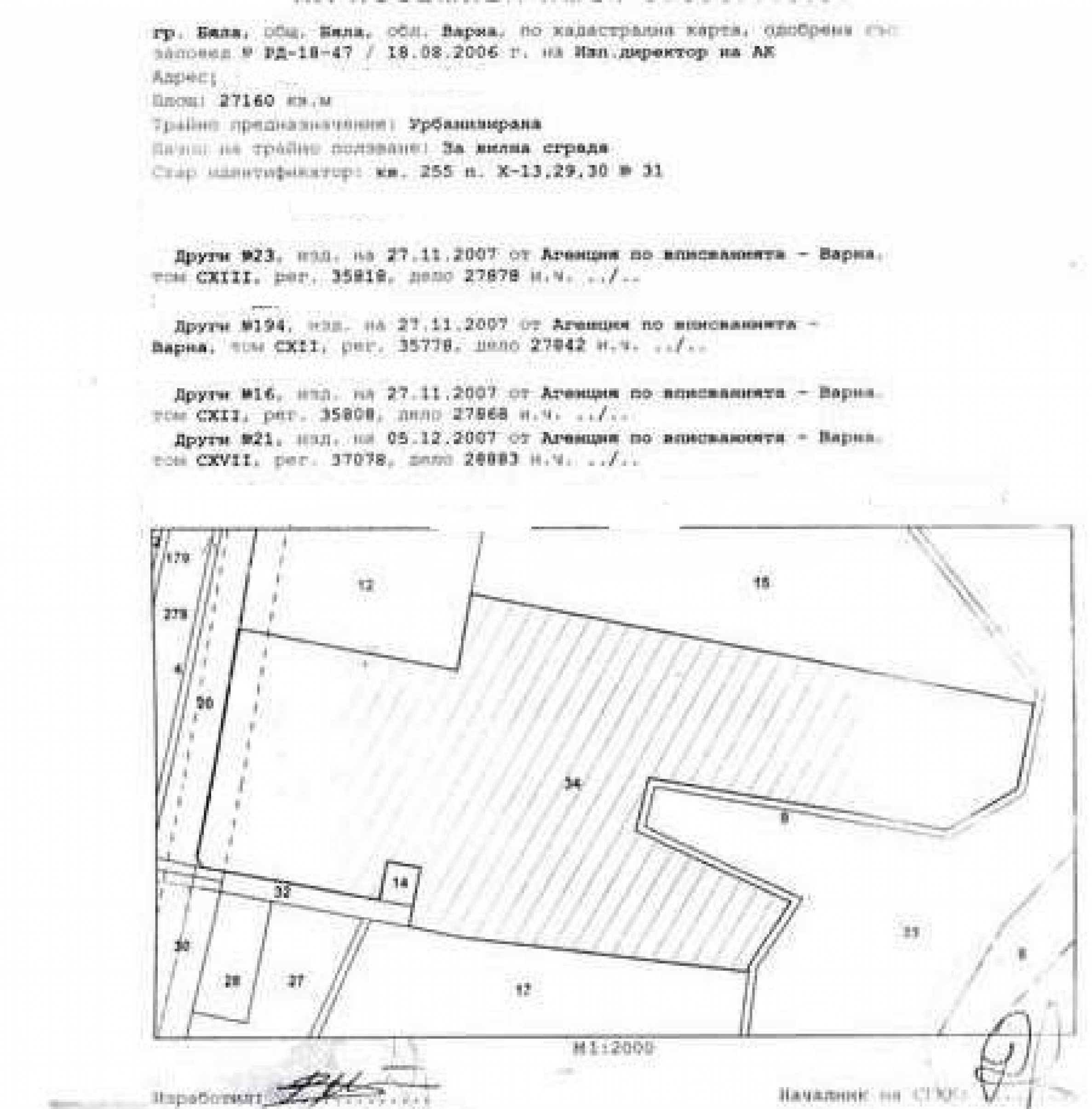 Grundstücke zum Verkauf in der ersten Linie nach Obzor 5