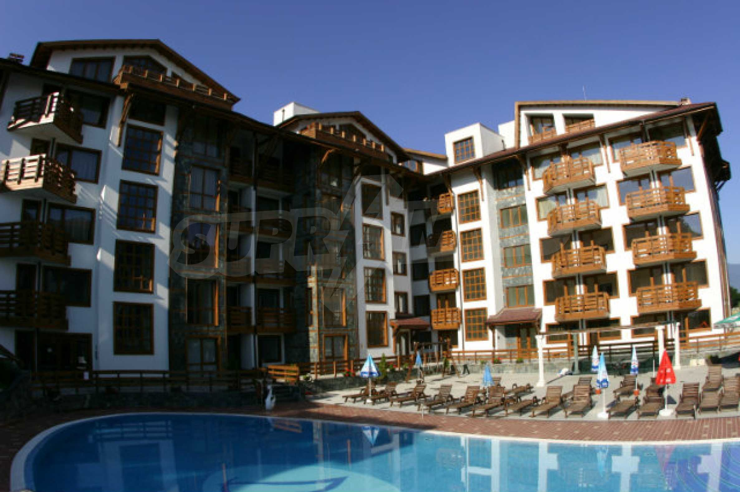 Möbliertes 2-Raum-Apartment im modernen Komplex Belvedere Holiday Club in Bansko
