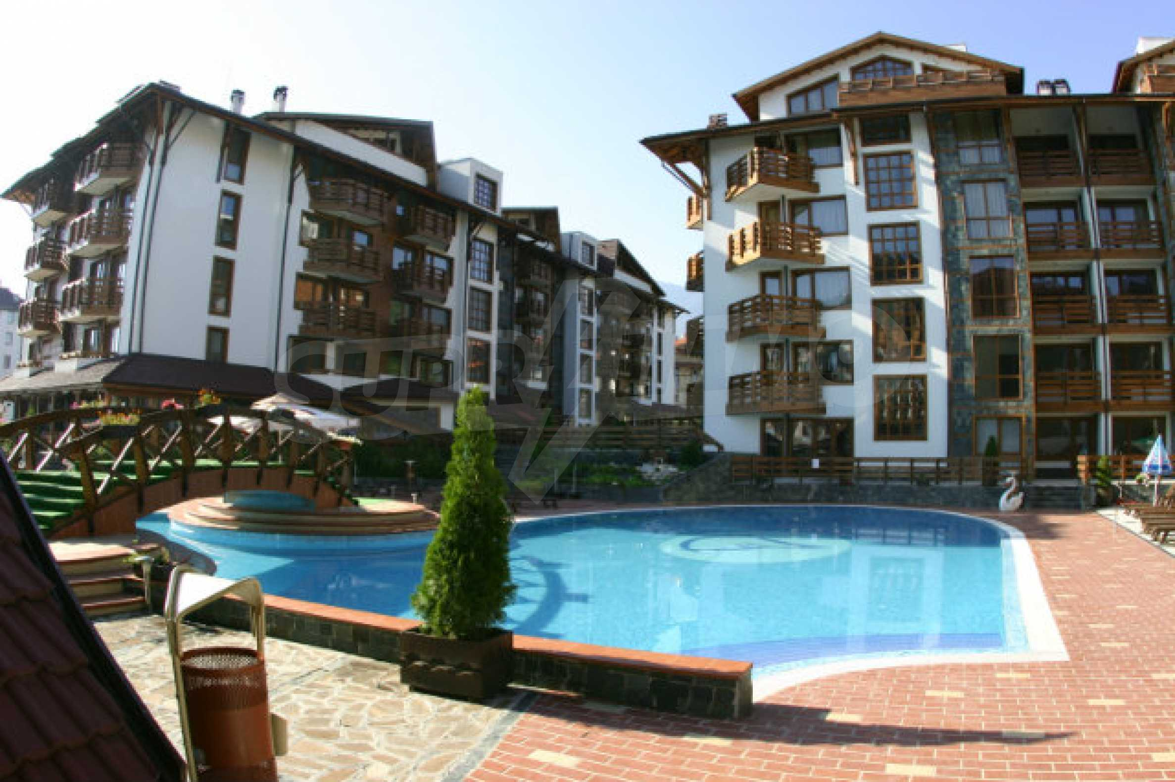 Möbliertes 2-Raum-Apartment im modernen Komplex Belvedere Holiday Club in Bansko    1