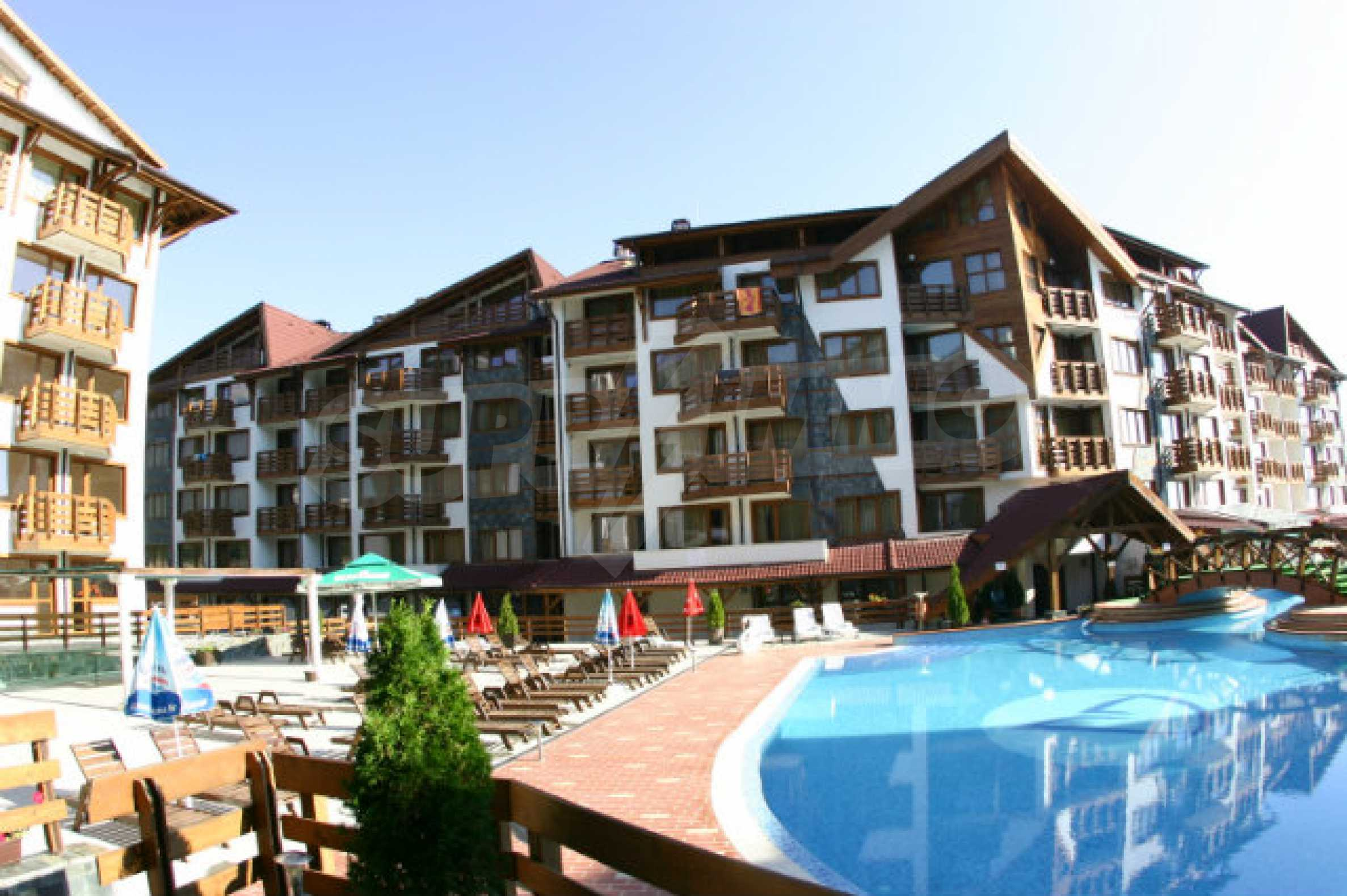 Möbliertes 2-Raum-Apartment im modernen Komplex Belvedere Holiday Club in Bansko    3