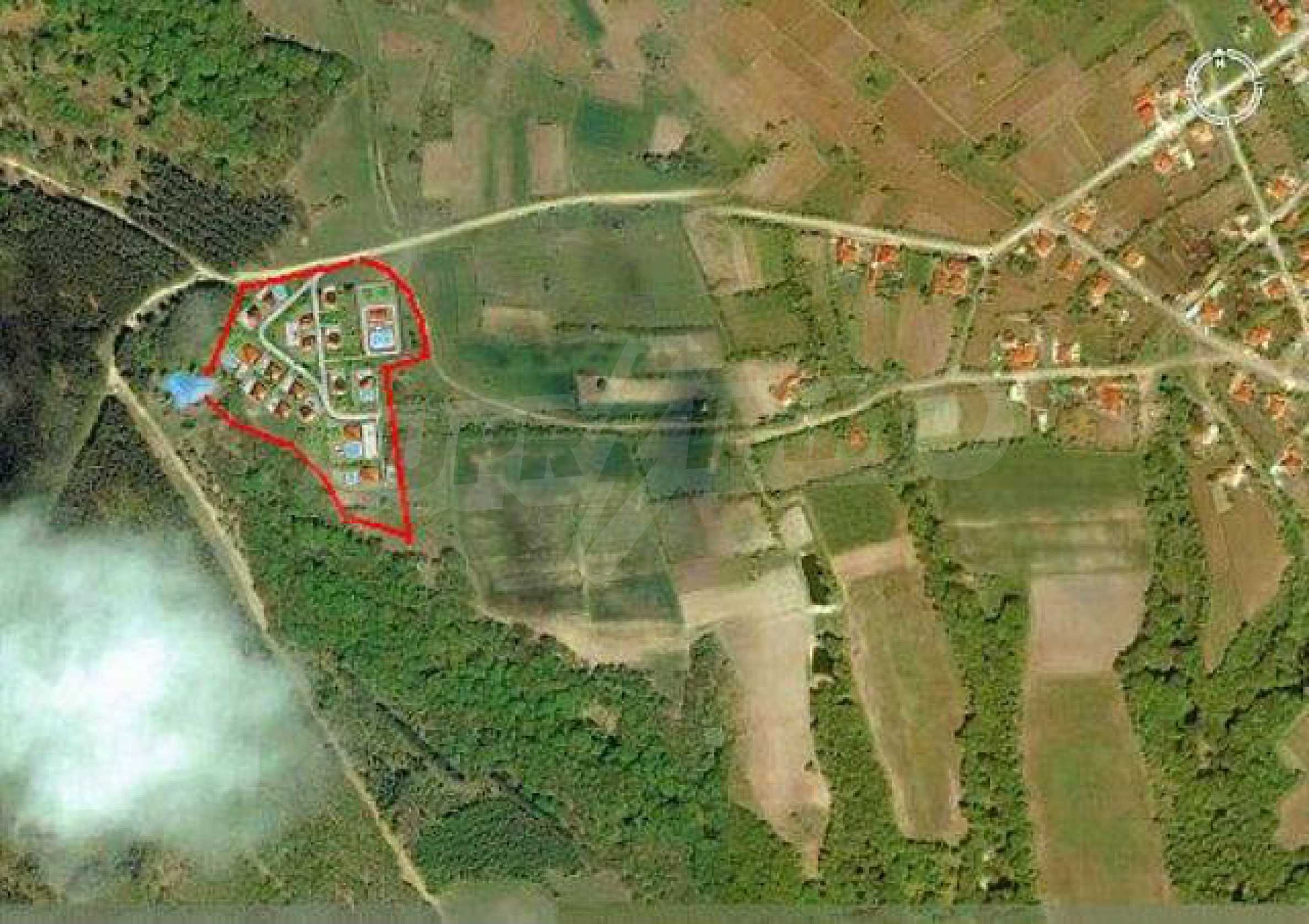 Geregeltes Land im Dorf Rudnik 9