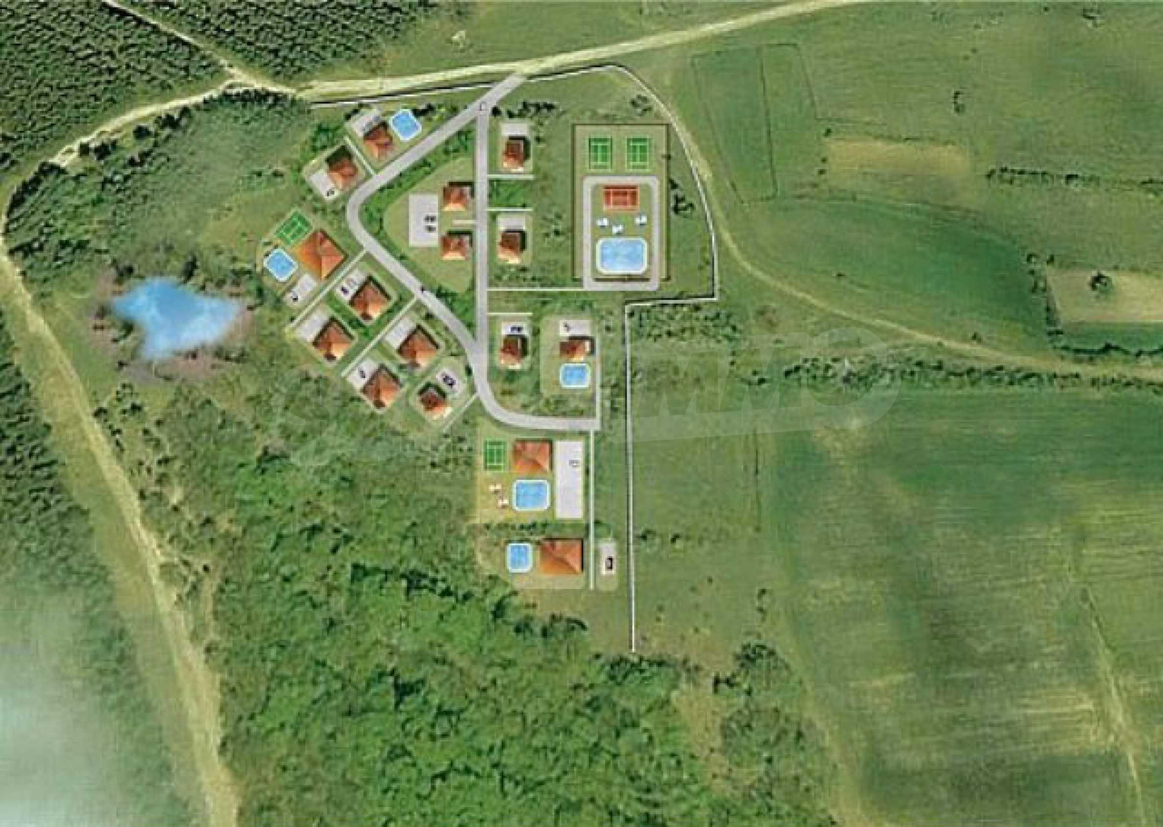 Geregeltes Land im Dorf Rudnik 28