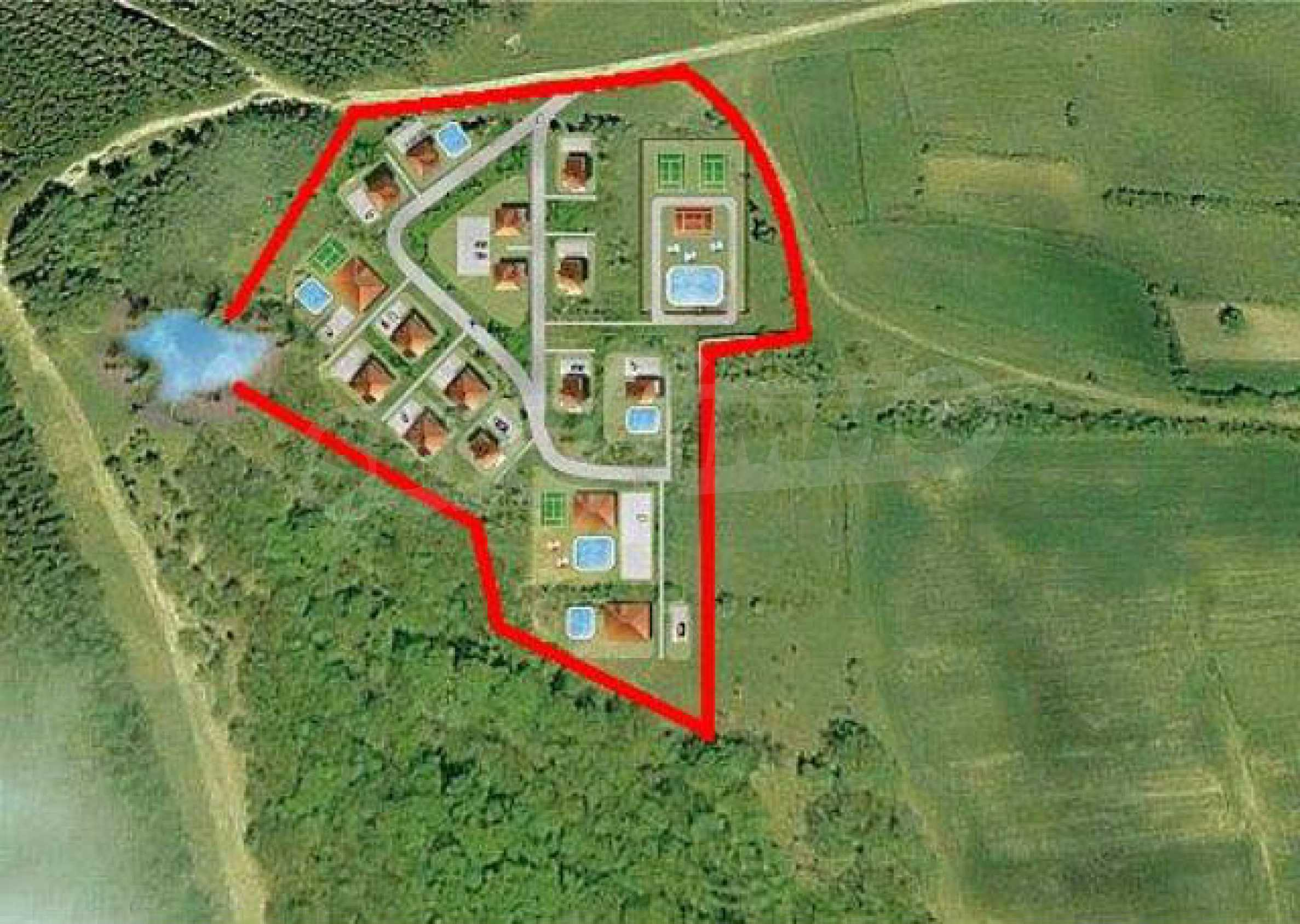 Geregeltes Land im Dorf Rudnik 30