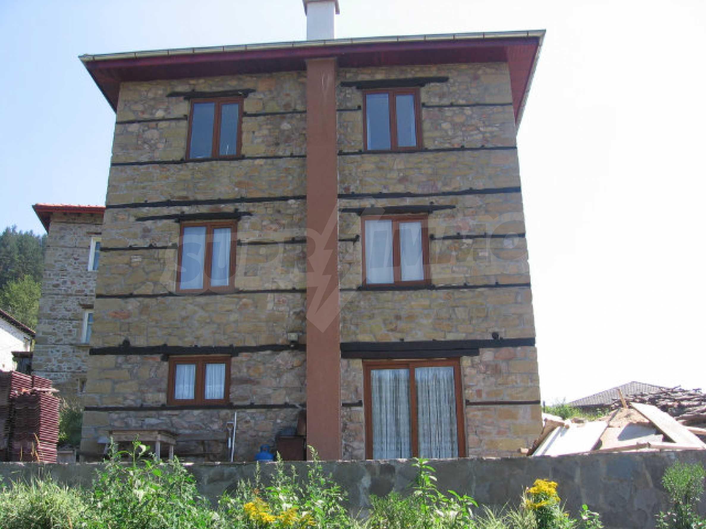 Restored and furnished three-storey house in a quiet village near Smolyan