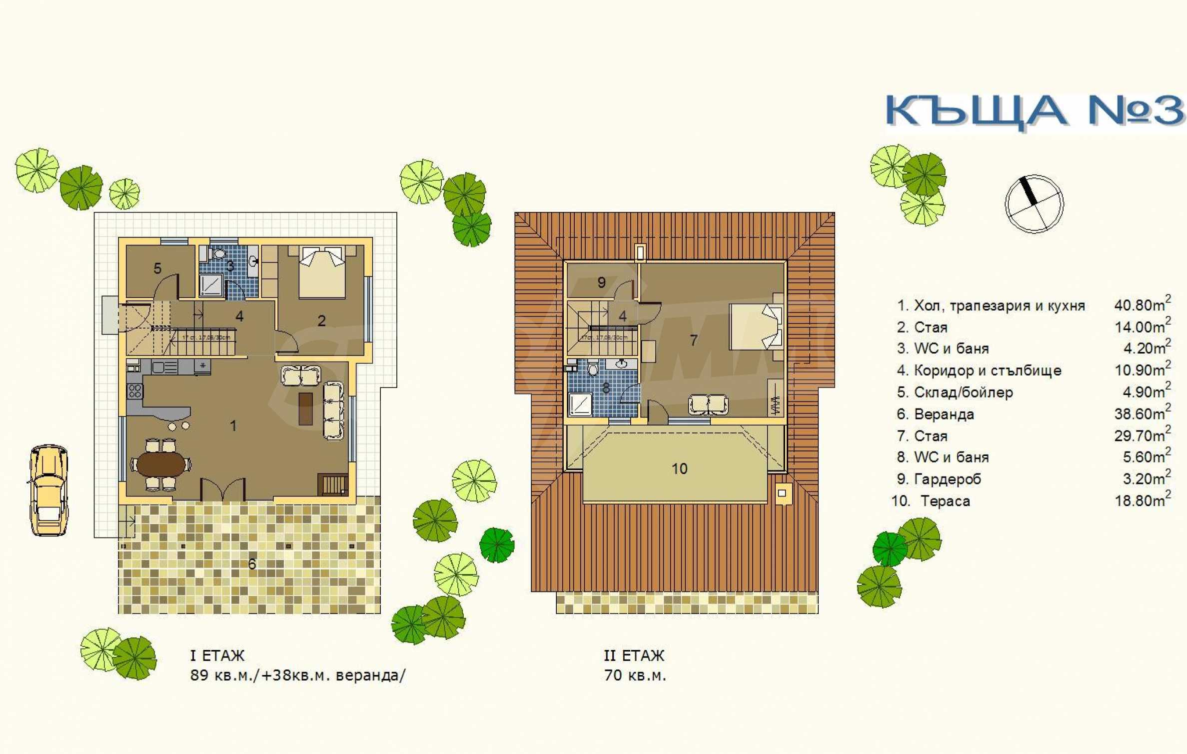 Zweistöckige Villa in Kosharitsa 19
