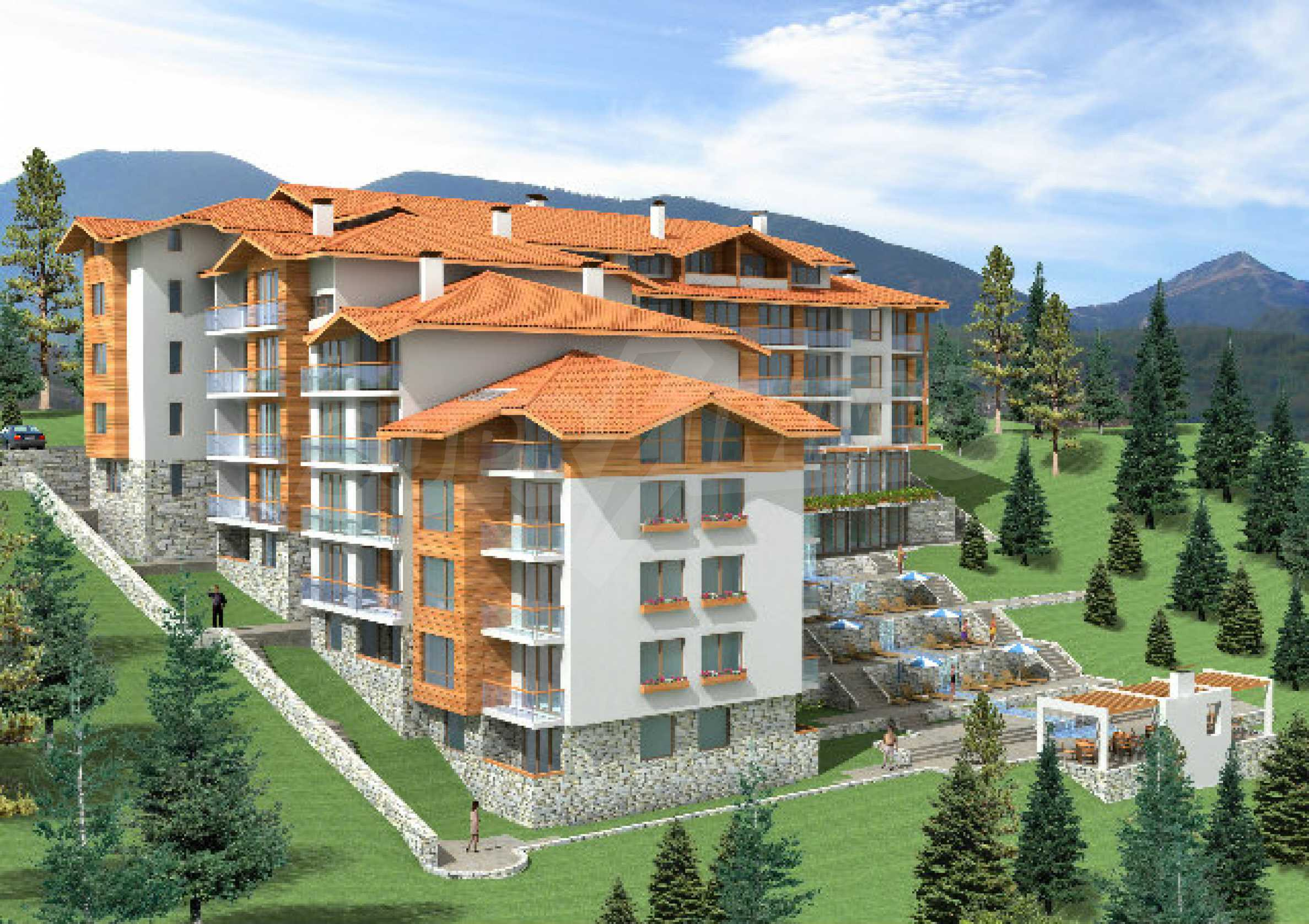 Geregeltes Grundstück mit Investitionsprojekt für den Bau eines Aparthotels in Bansko