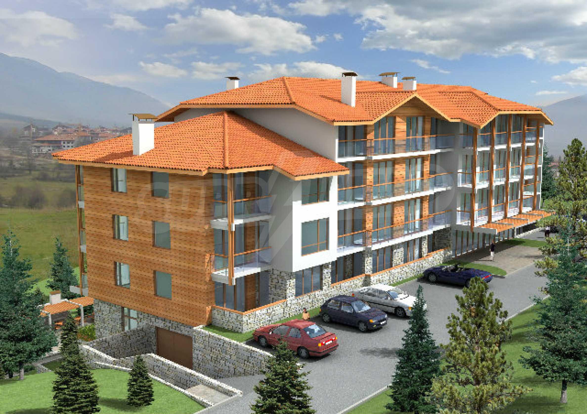 Geregeltes Grundstück mit Investitionsprojekt für den Bau eines Aparthotels in Bansko 2