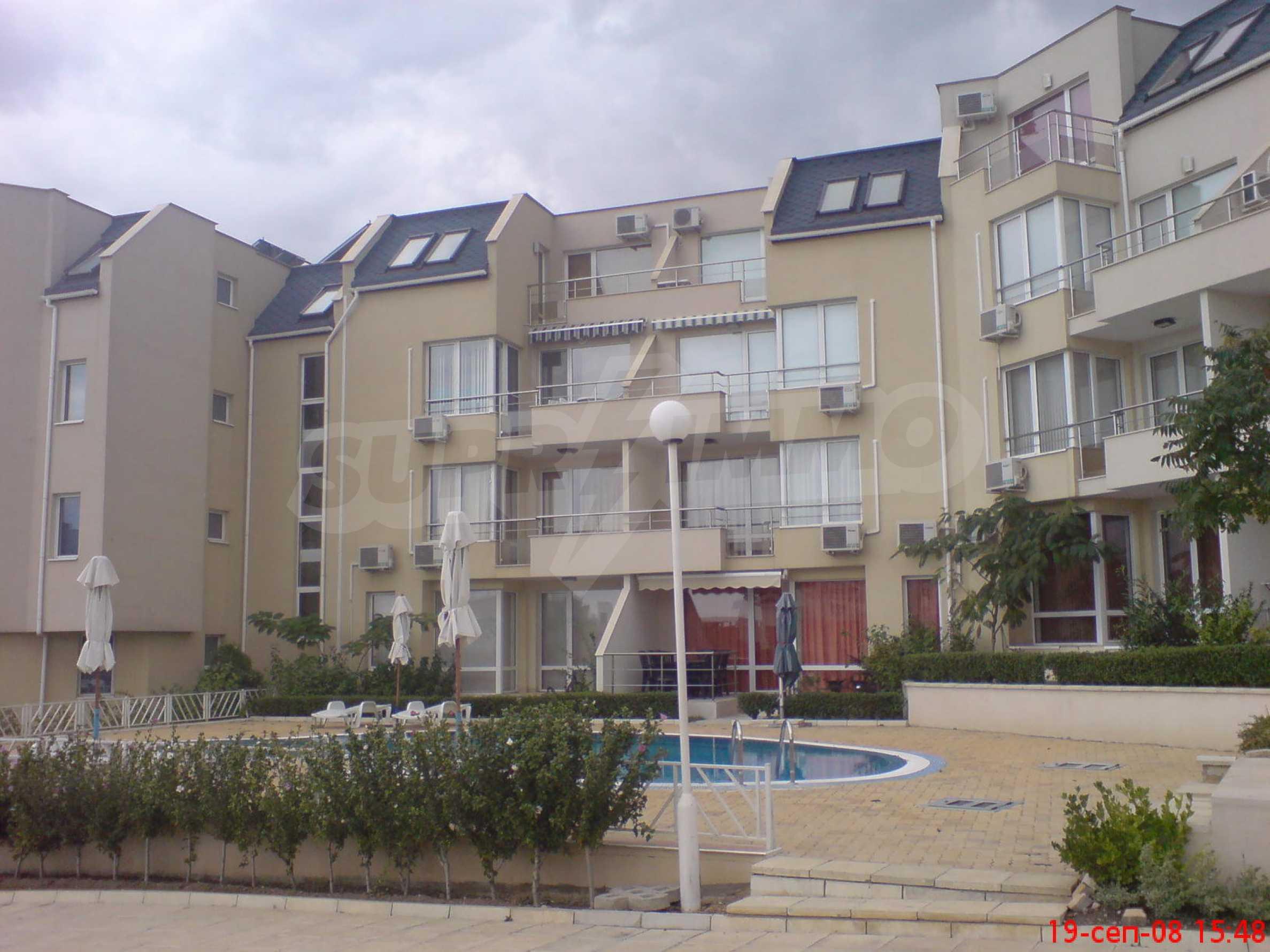 Apartment mit einem Schlafzimmer im Komplex mit Meerblick in Sveti Vlas 15