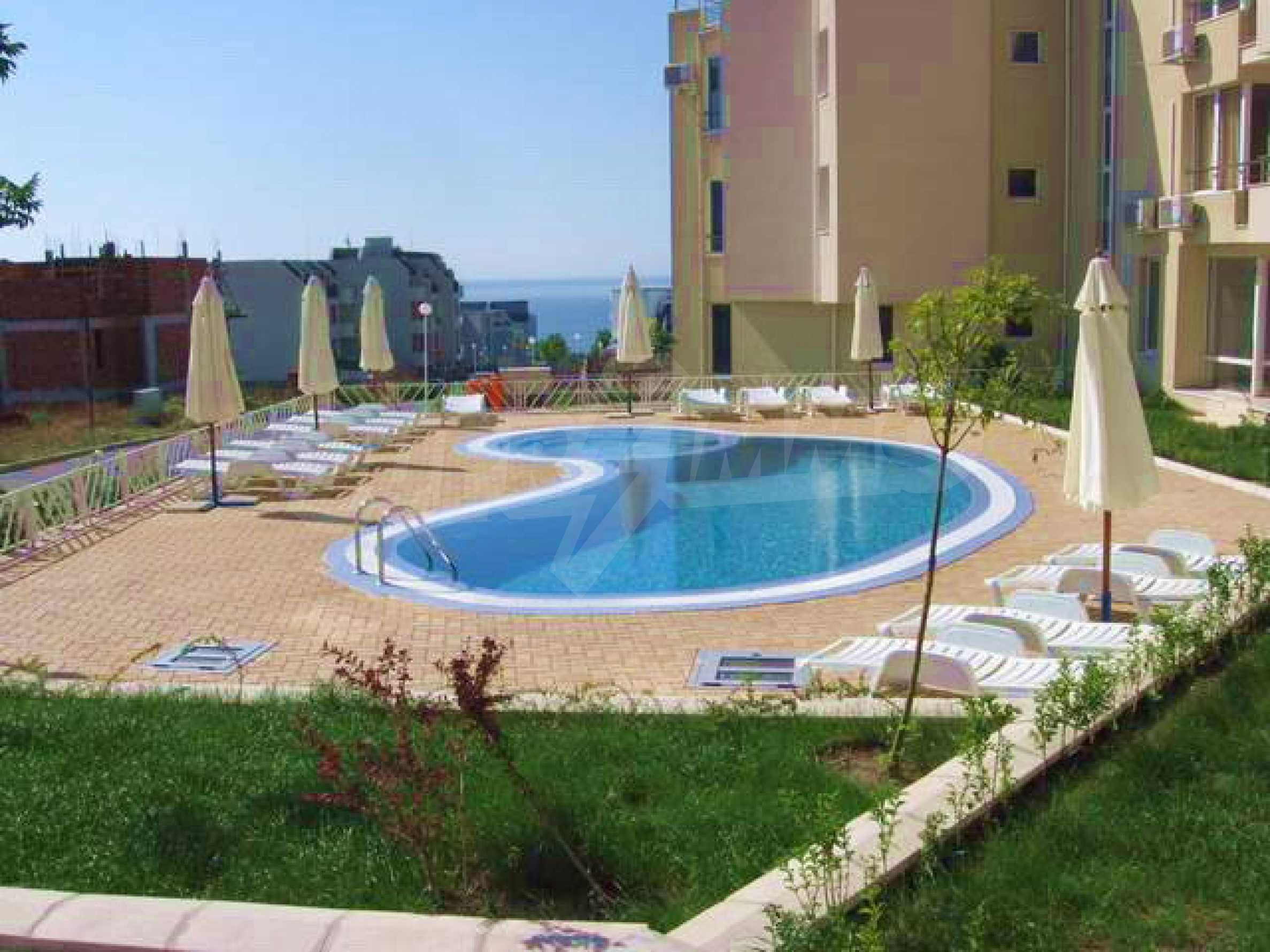 Apartment mit einem Schlafzimmer im Komplex mit Meerblick in Sveti Vlas 19